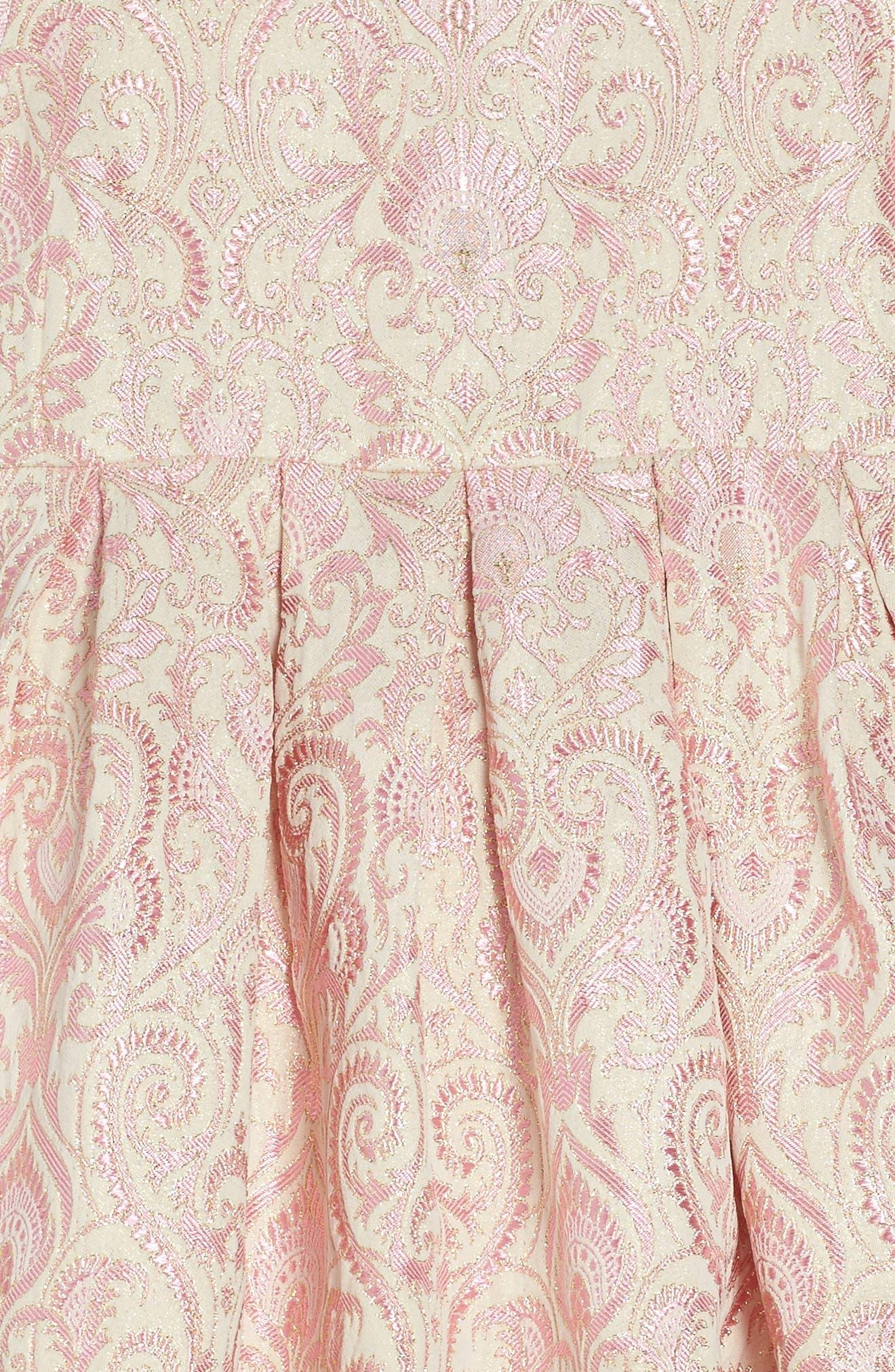 Lenox Brocade Dress,                             Alternate thumbnail 3, color,