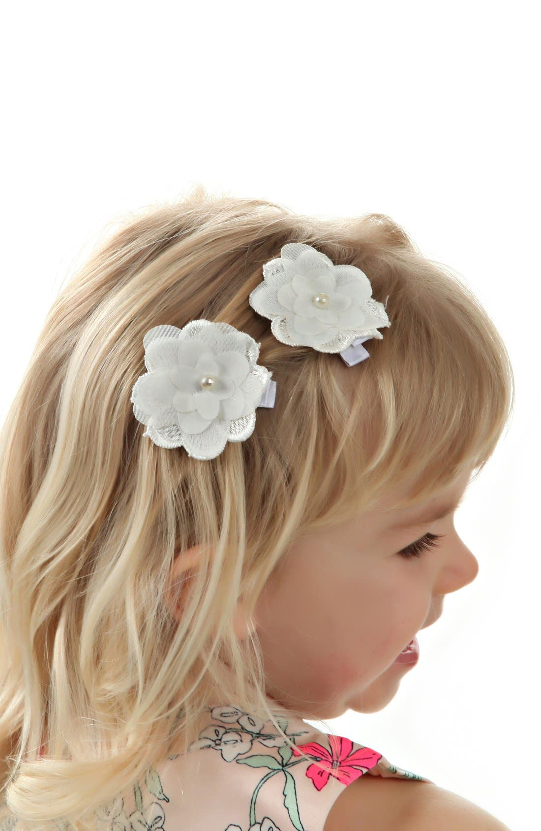 Flower Hair Clips,                             Alternate thumbnail 3, color,