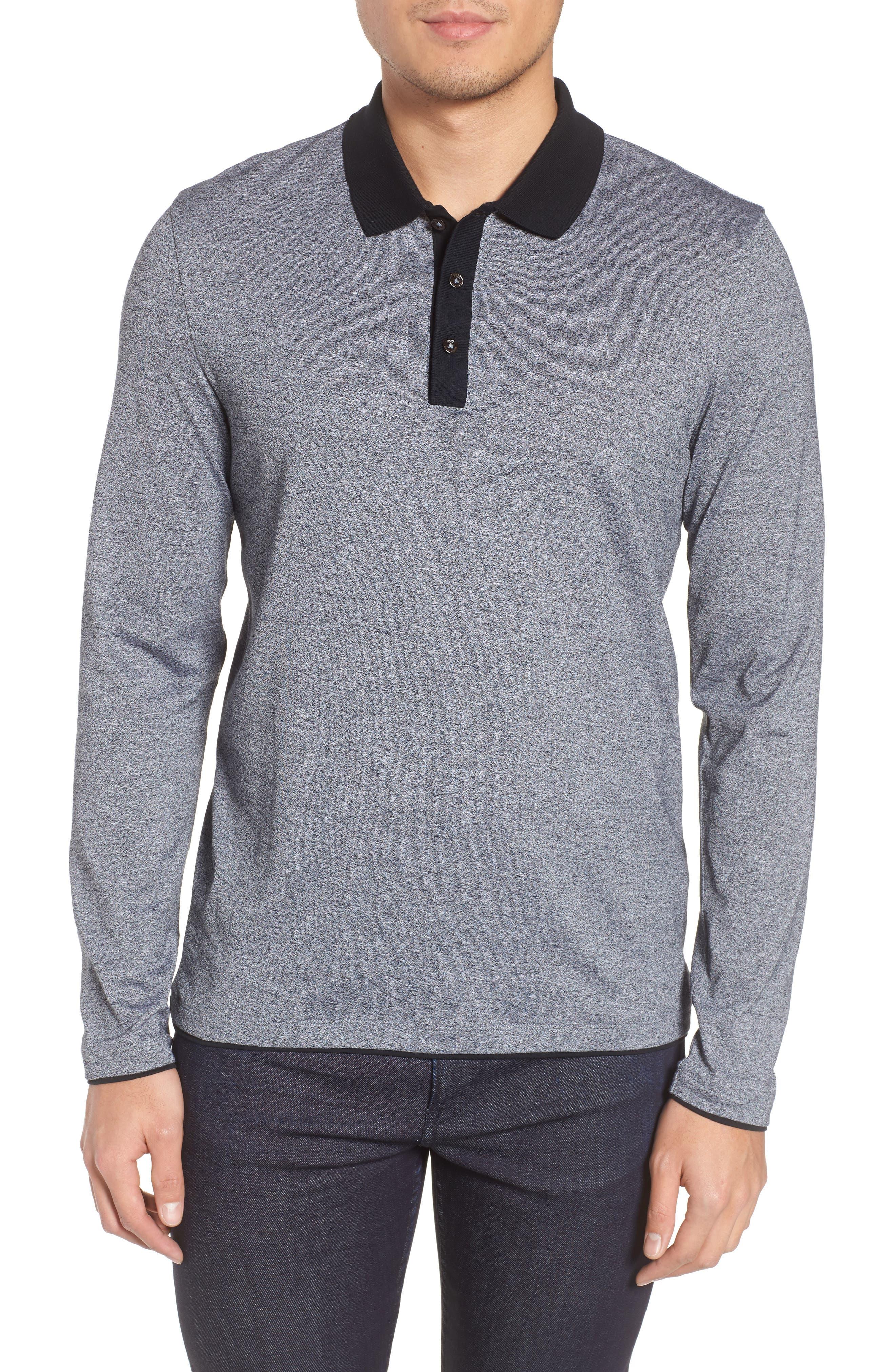 Paschal Mouline Slim Fit Polo Shirt,                             Main thumbnail 1, color,                             001