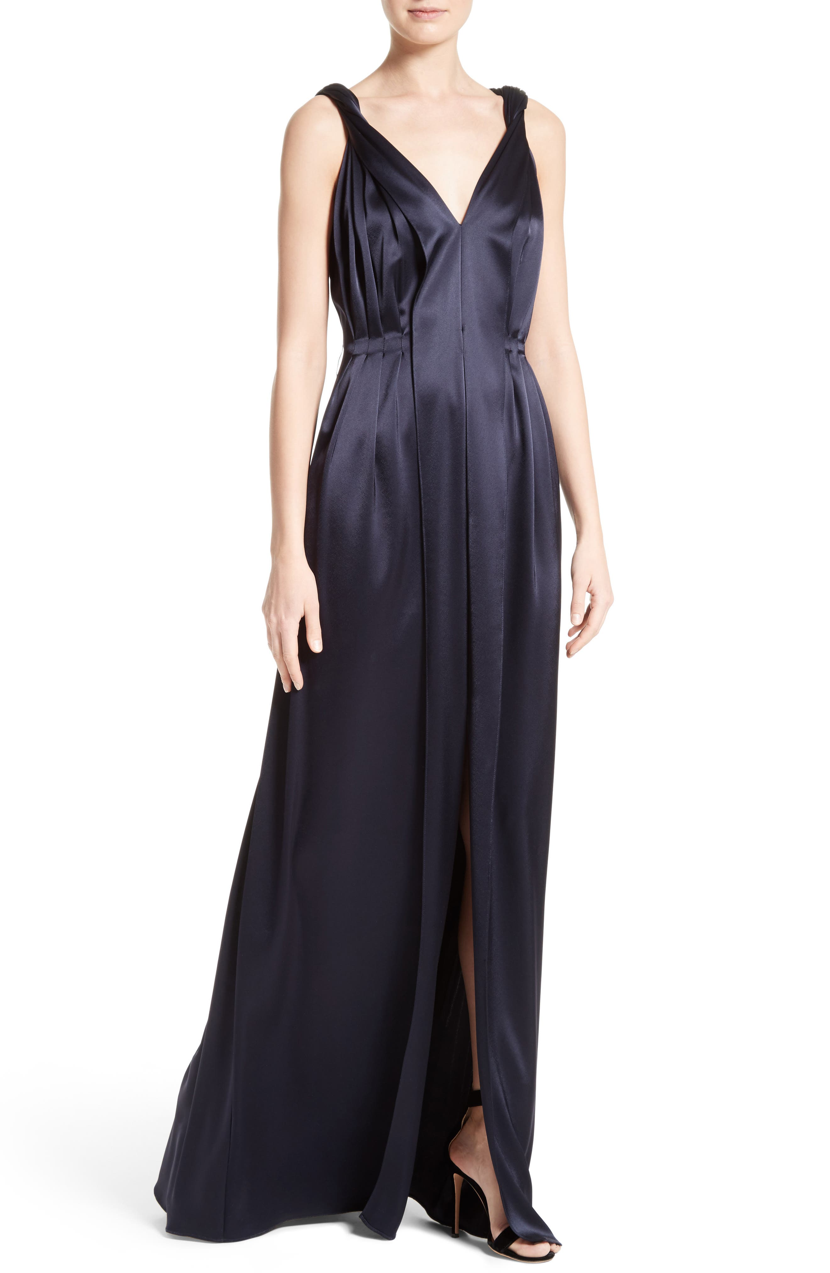 Liquid Satin Gown,                             Alternate thumbnail 4, color,