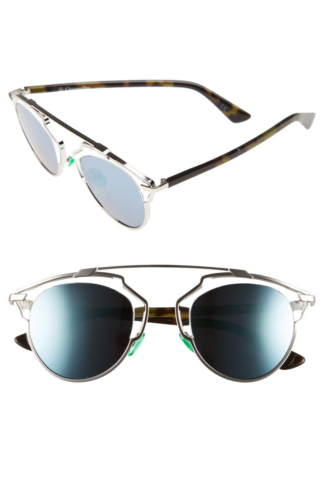 So Real 48mm Brow Bar Sunglasses,                             Main thumbnail 8, color,
