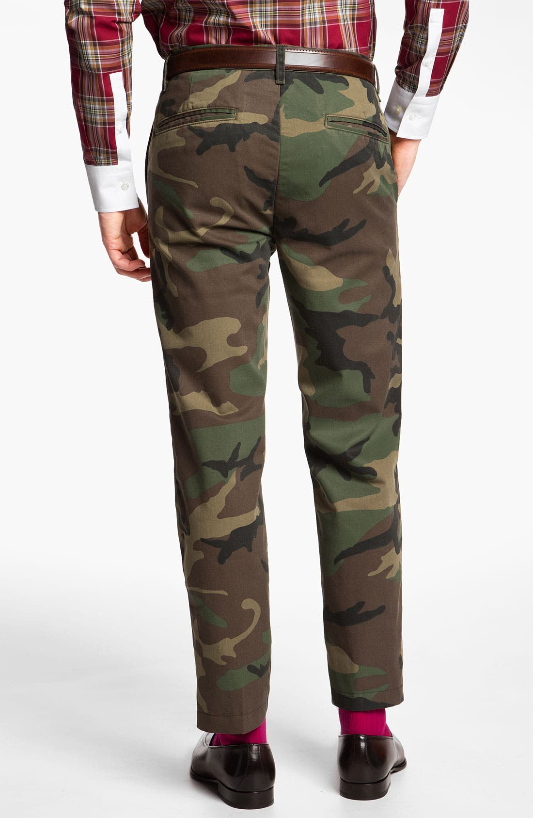 'Ryan' Straight Leg Camo Trousers,                             Alternate thumbnail 2, color,                             340