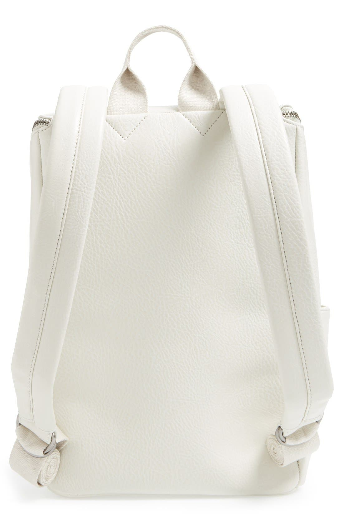 'Brave' Faux Leather Backpack,                             Alternate thumbnail 27, color,
