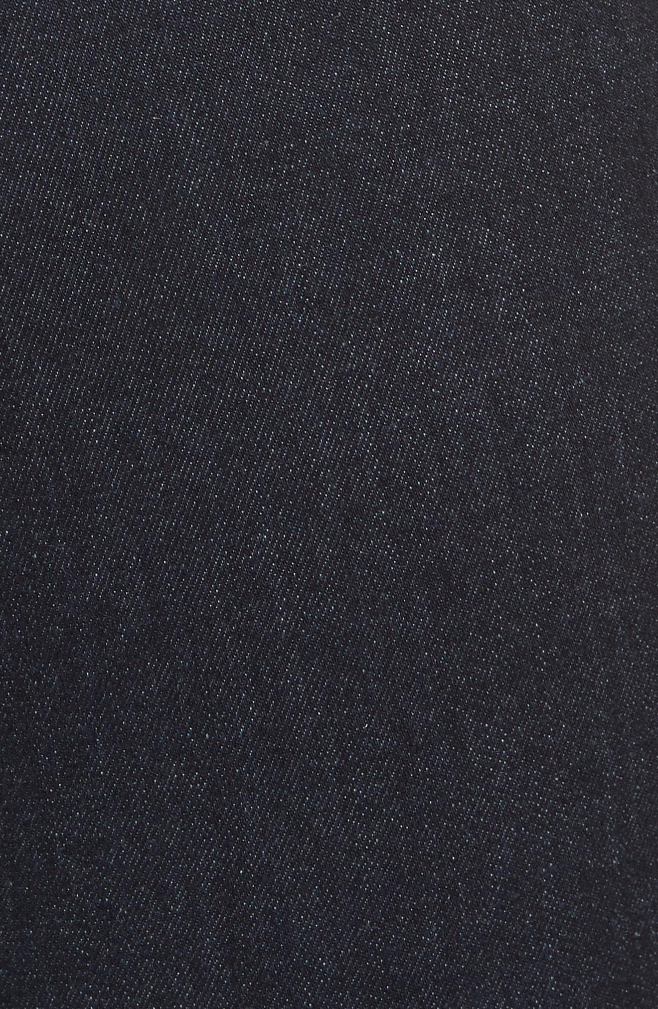 Margot High Waist Crop Jeans,                             Alternate thumbnail 6, color,                             MIDNIGHT