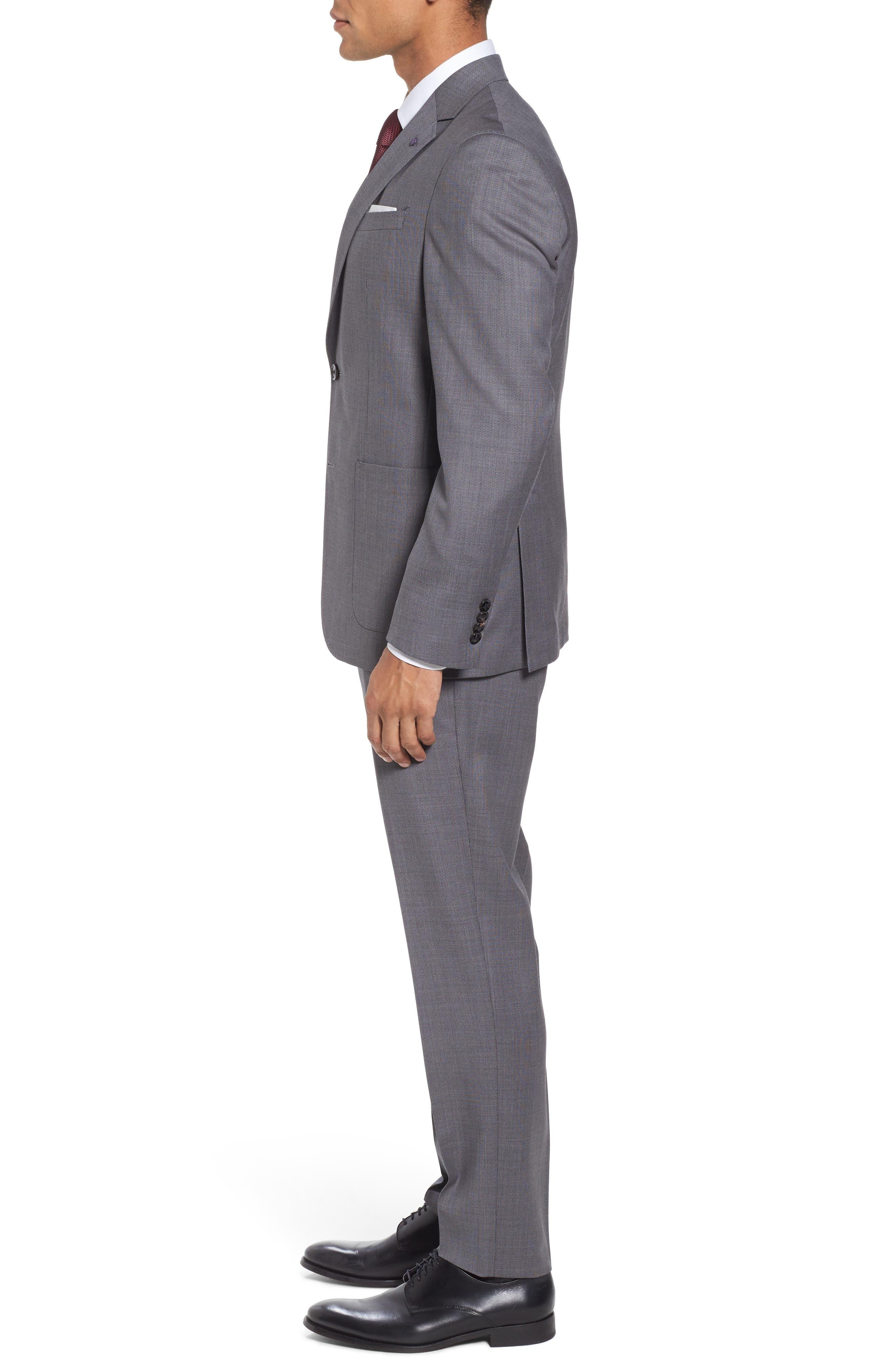 Kyle Trim Fit Solid Wool Suit,                             Alternate thumbnail 3, color,                             020