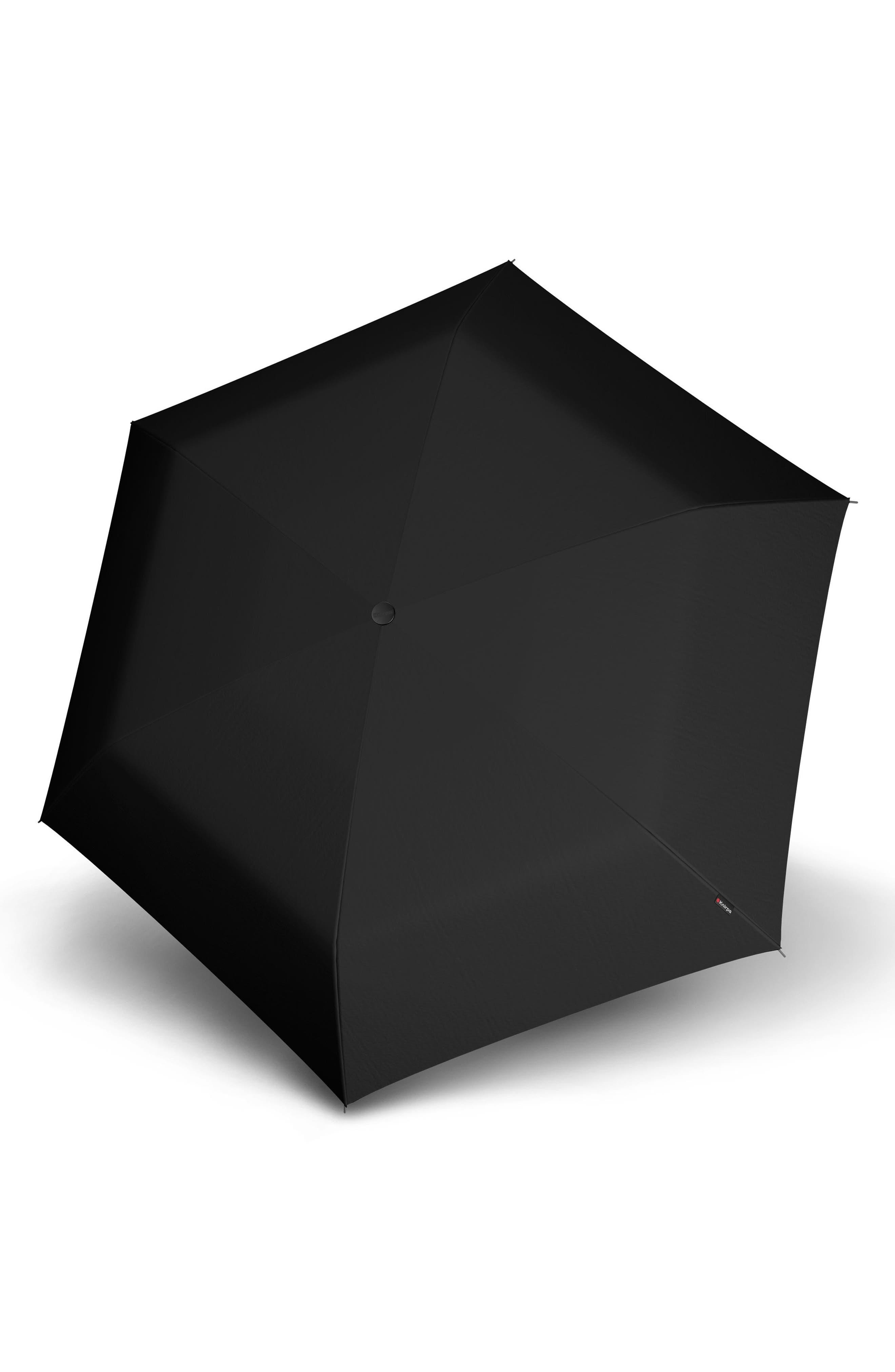 TS010 Slim Manual Open/Close Umbrella,                             Alternate thumbnail 3, color,                             BLACK