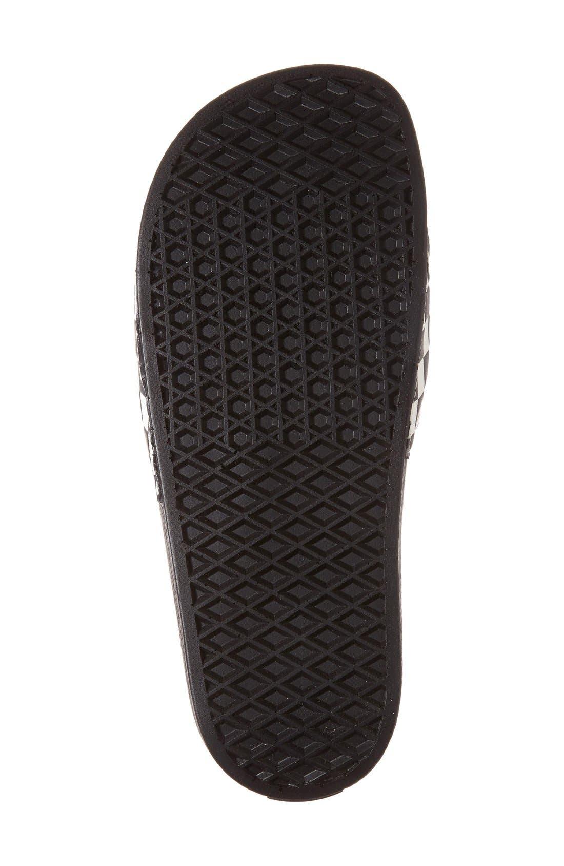 'Slide-On' Slide Sandal,                             Alternate thumbnail 5, color,                             WHITE CHECKERBOARD