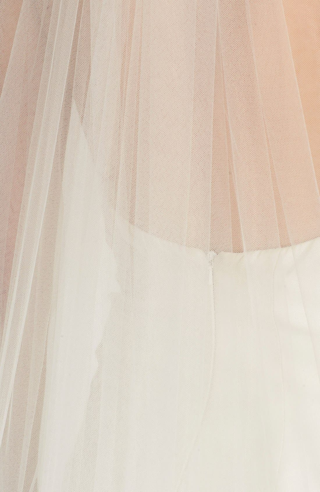 'Zen' Cascaded Chapel Veil,                             Alternate thumbnail 3, color,                             LIGHT IVORY