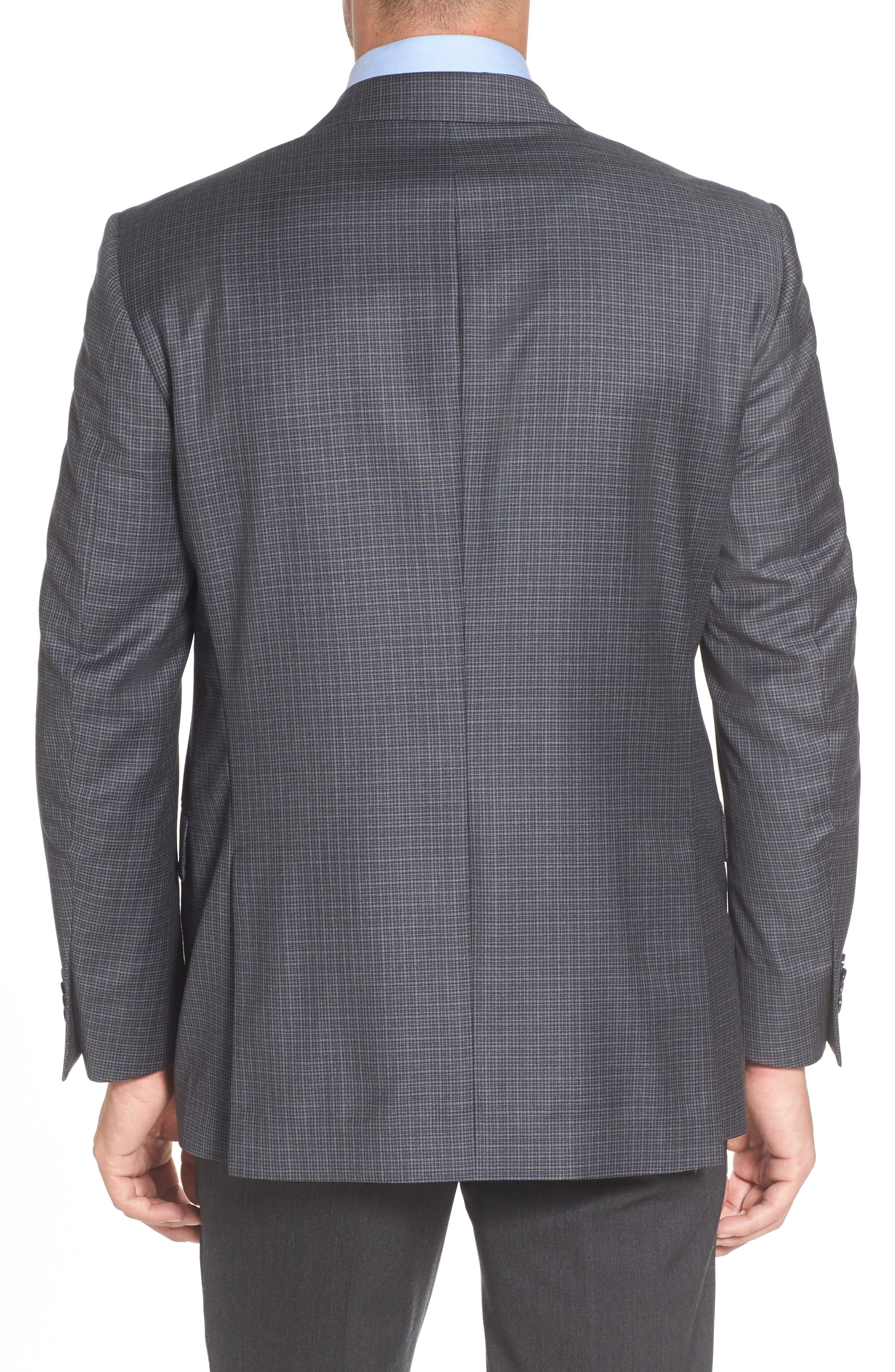 Flynn Classic Fit Check Wool Sport Coat,                             Alternate thumbnail 2, color,                             400