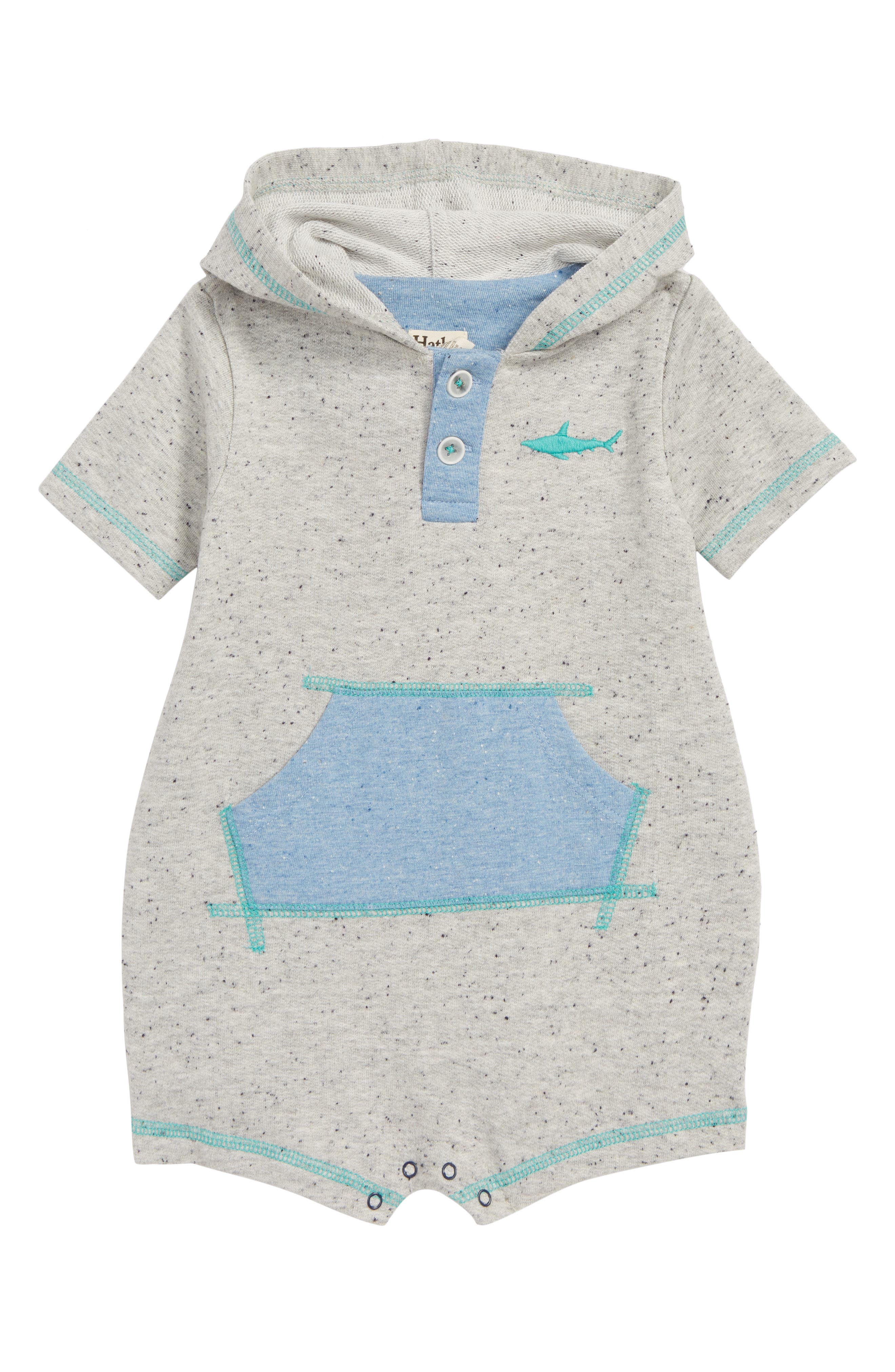 Hooded Romper,                             Main thumbnail 1, color,                             020