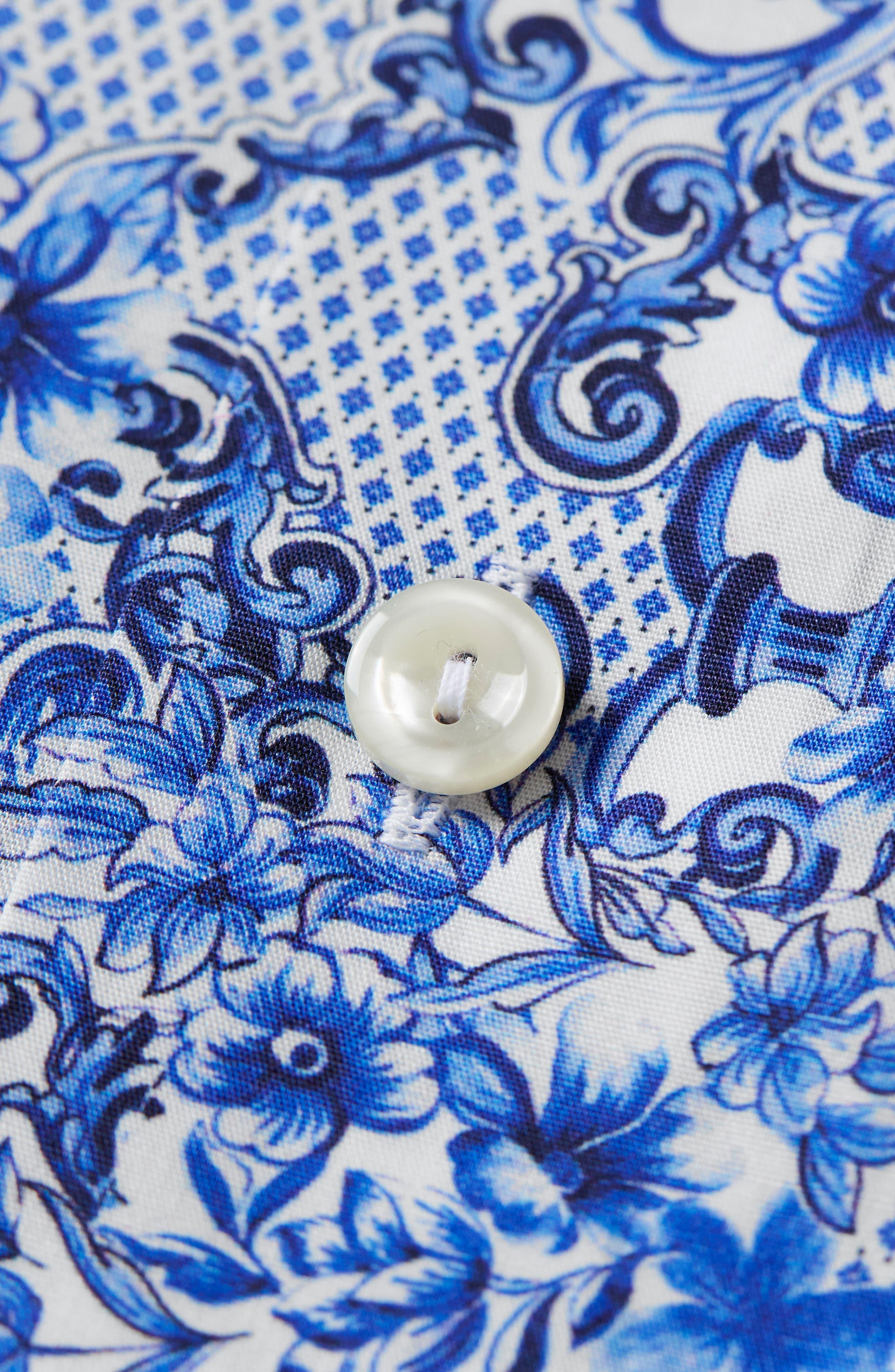 Slim Fit Floral Dress Shirt,                             Alternate thumbnail 2, color,                             400