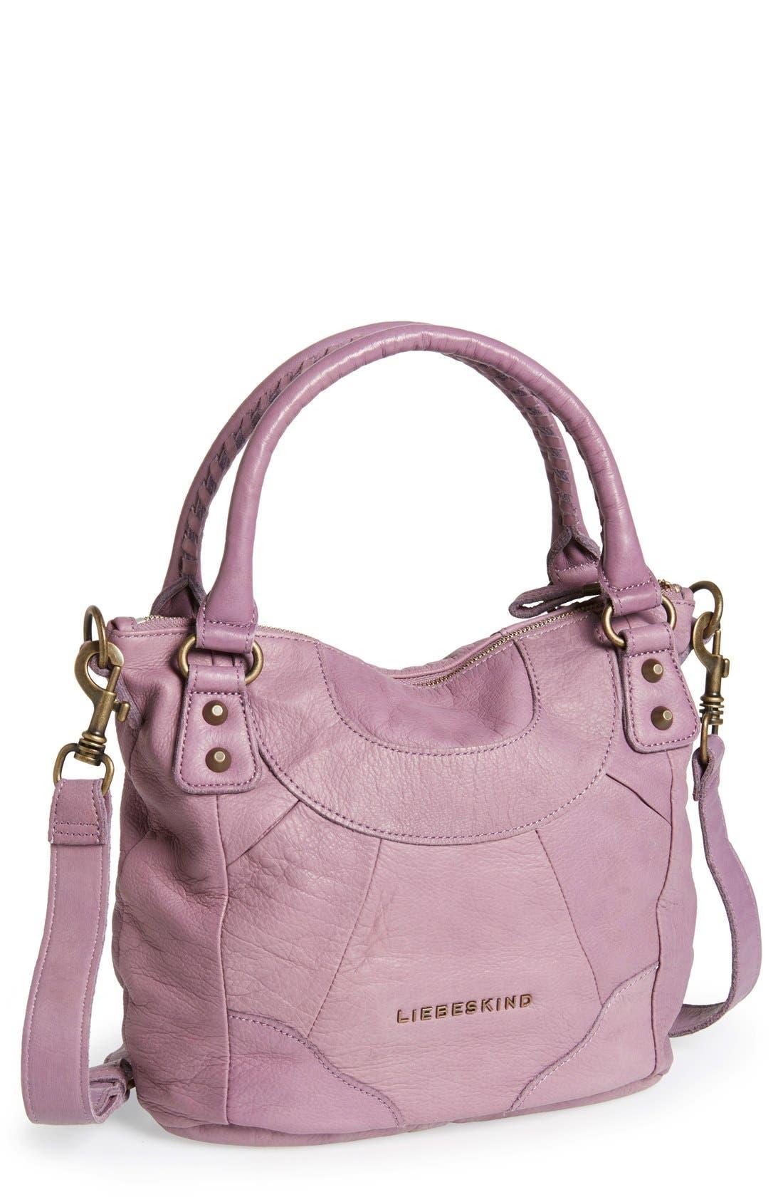 'Vintage Gina' Soft Leather Handbag, Main, color, 500