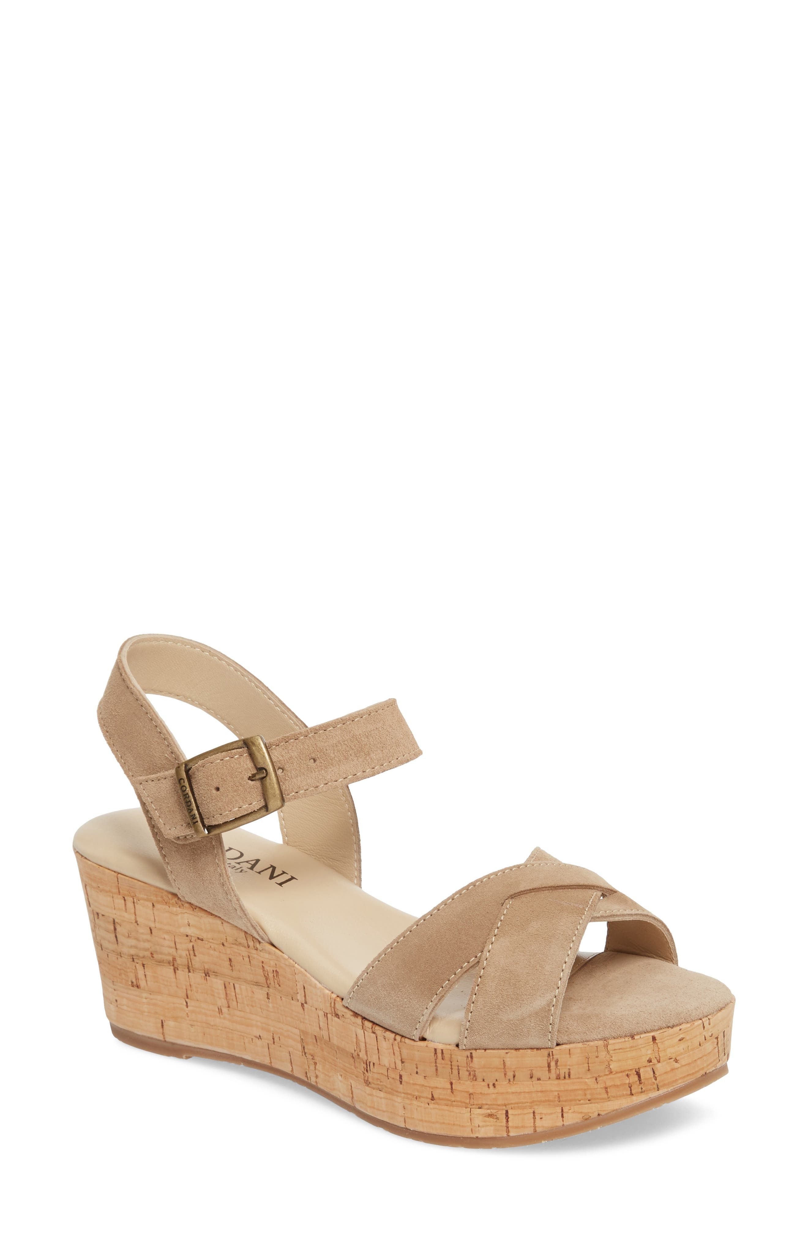 Candy Wedge Sandal,                             Main thumbnail 1, color,                             CORDA SUEDE