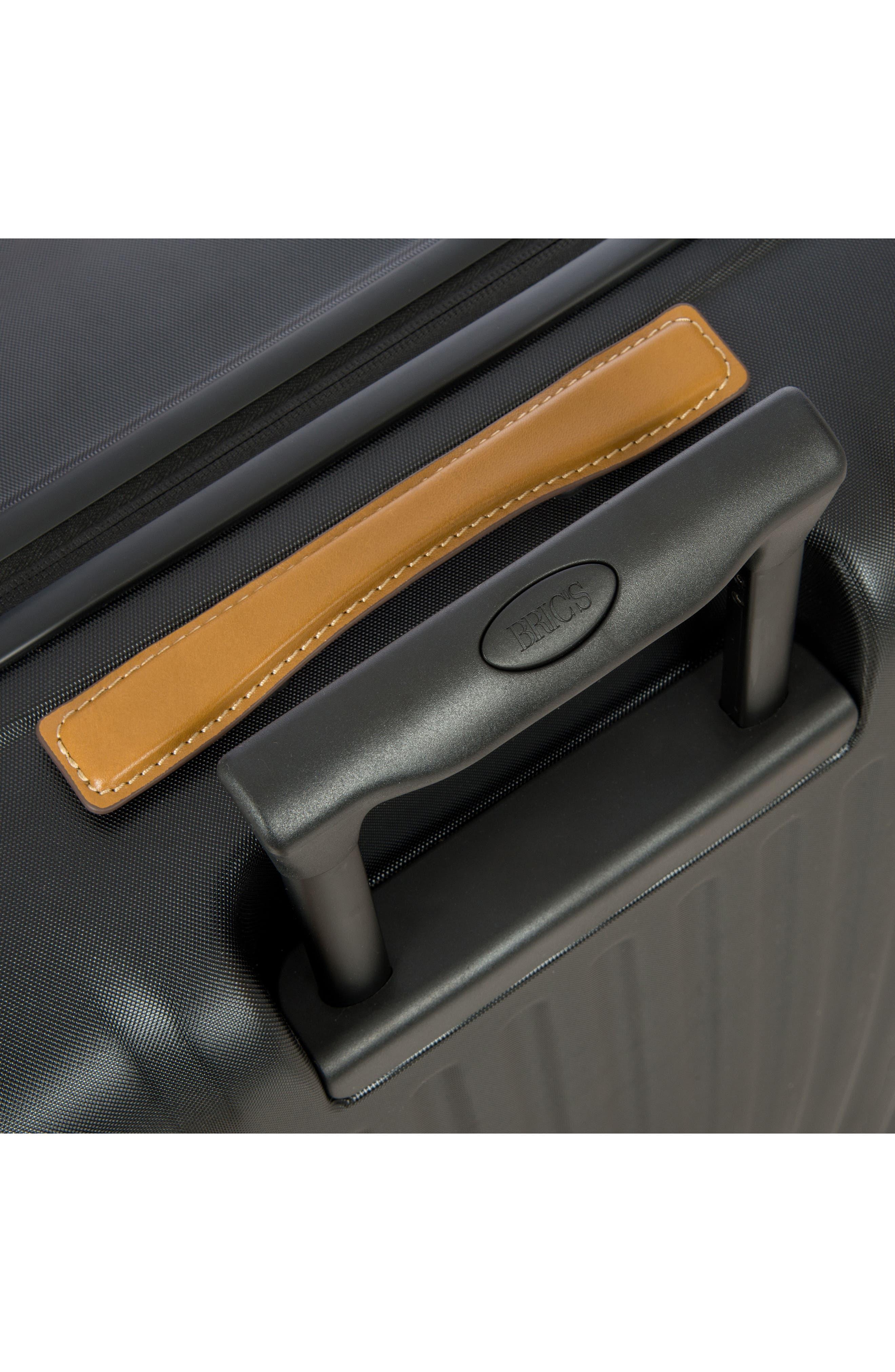 Capri 27-Inch Rolling Suitcase,                             Alternate thumbnail 9, color,                             MATTE BLACK