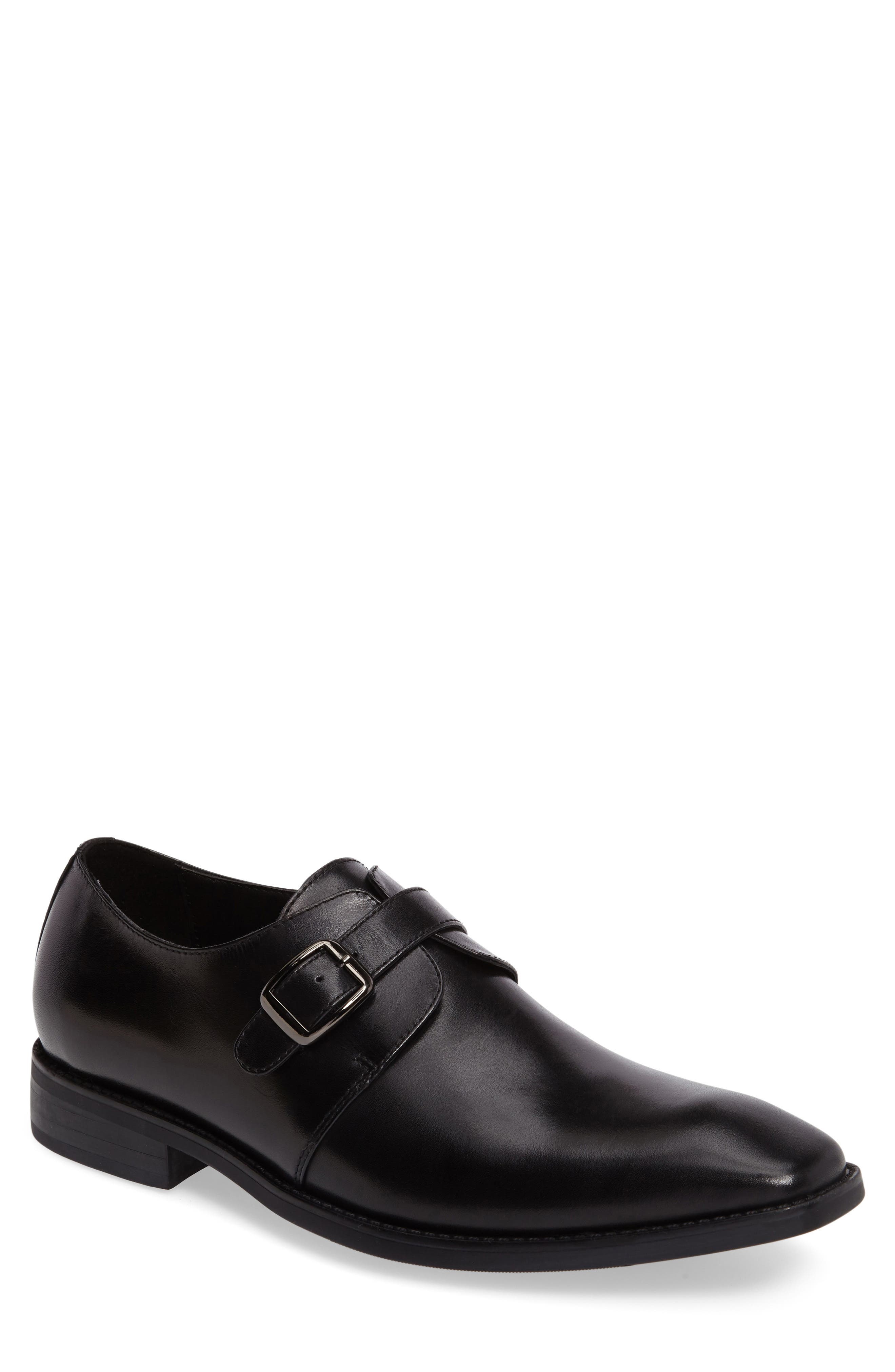 Landon Monk Strap Shoe,                             Main thumbnail 1, color,                             001