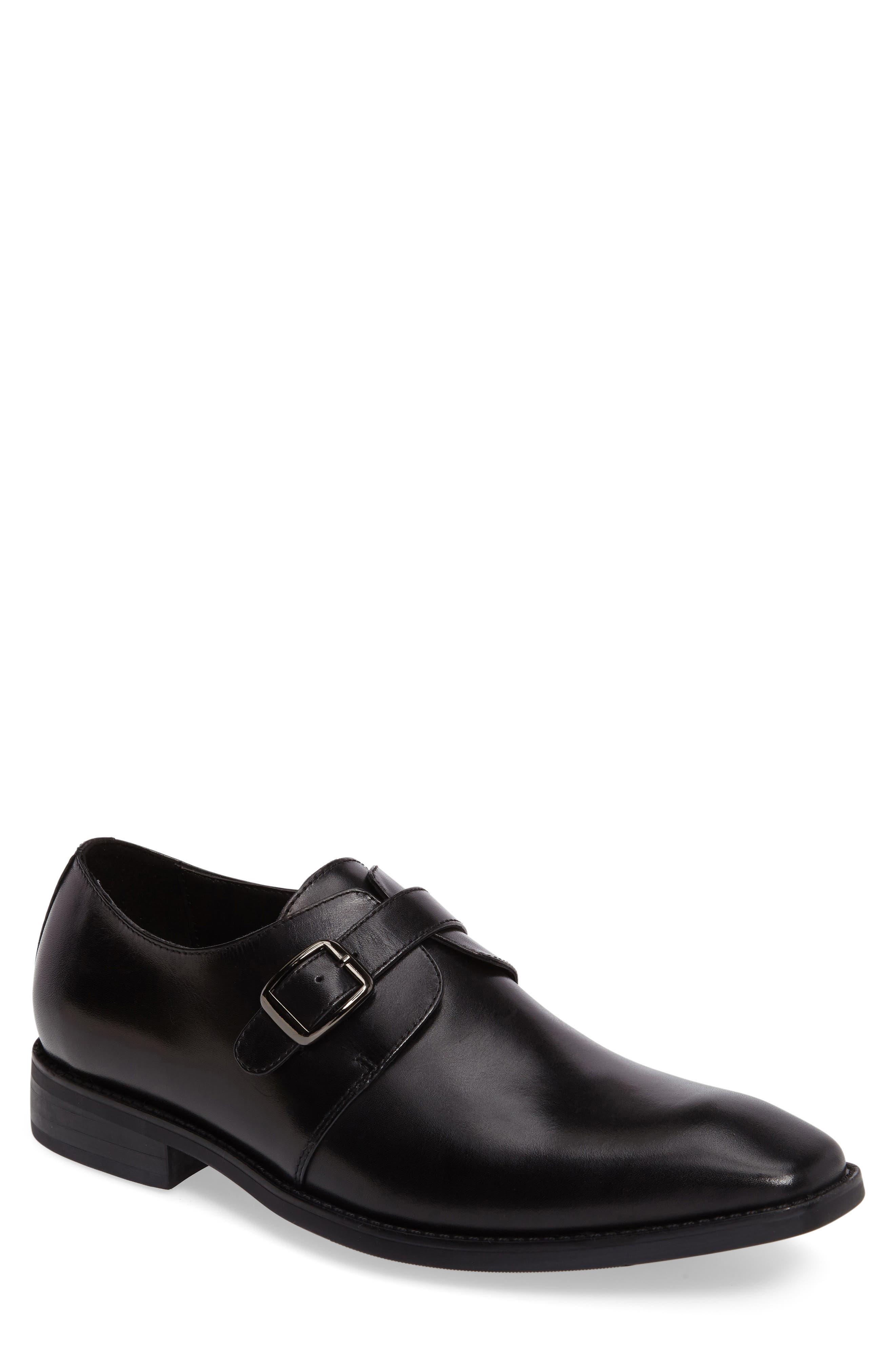 Landon Monk Strap Shoe,                         Main,                         color, 001