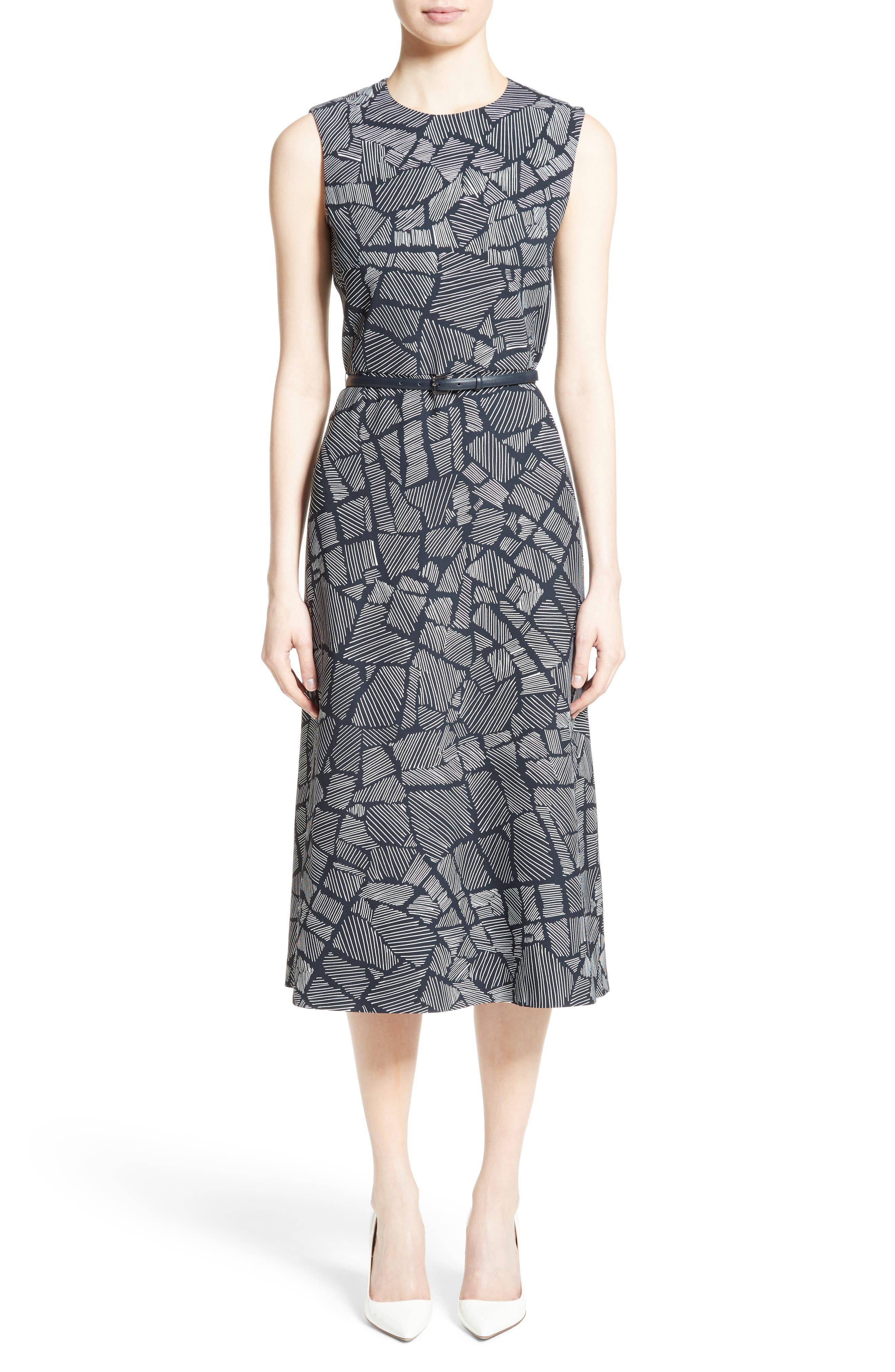 Jasmine Print Midi Dress,                             Main thumbnail 1, color,                             411
