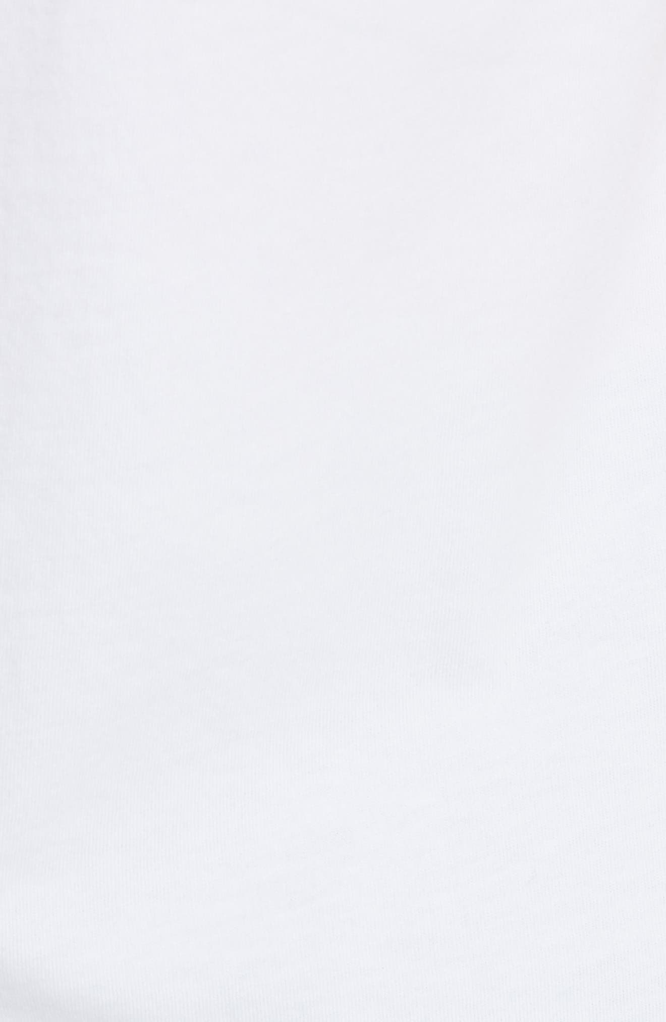Lace Trim Tee,                             Alternate thumbnail 5, color,                             100