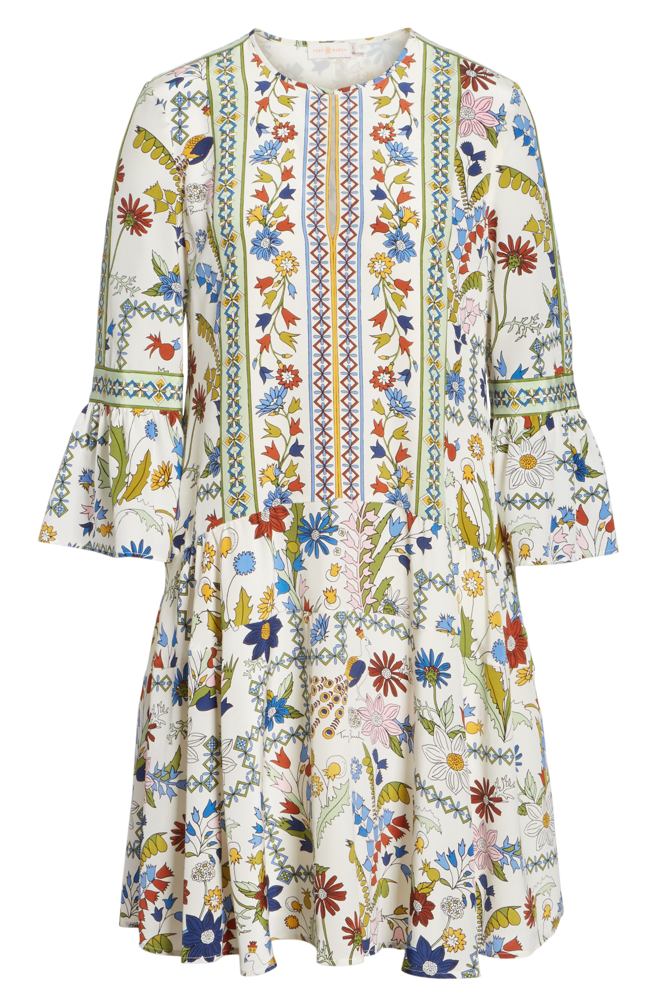 Daphne Silk Shift Dress,                             Alternate thumbnail 6, color,