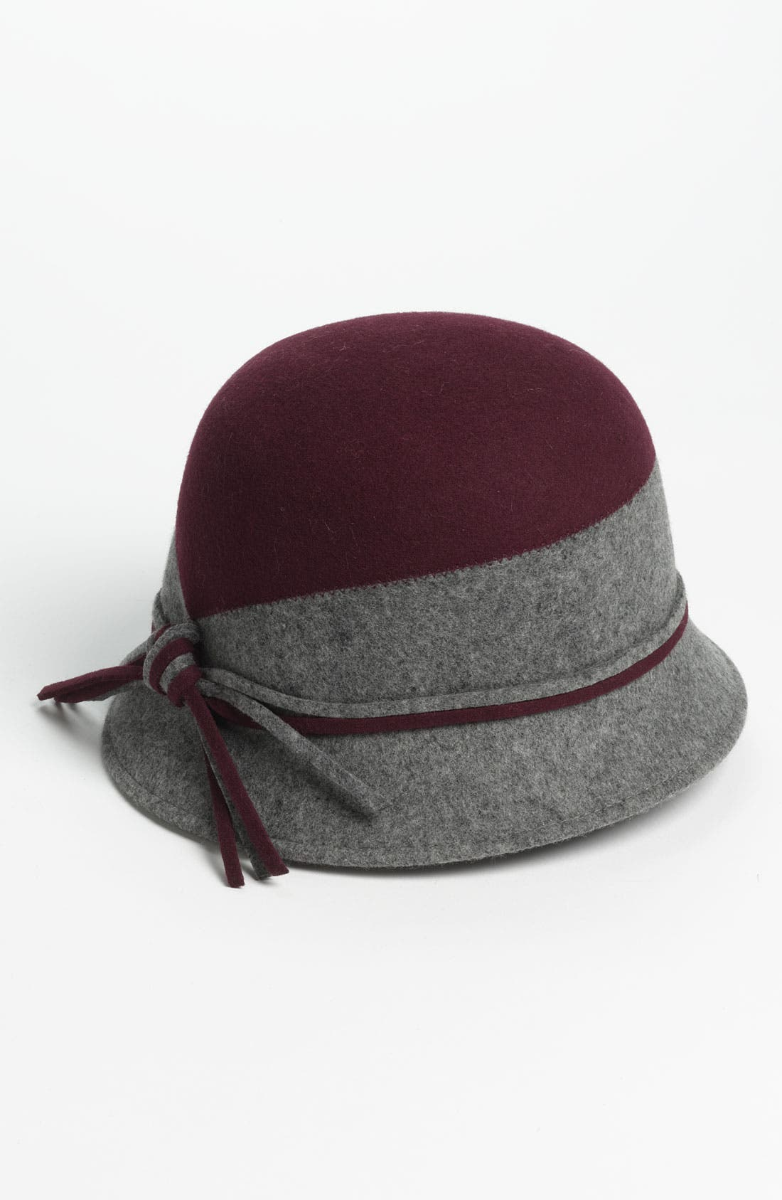 Two Tone Wool Cloche,                             Main thumbnail 4, color,