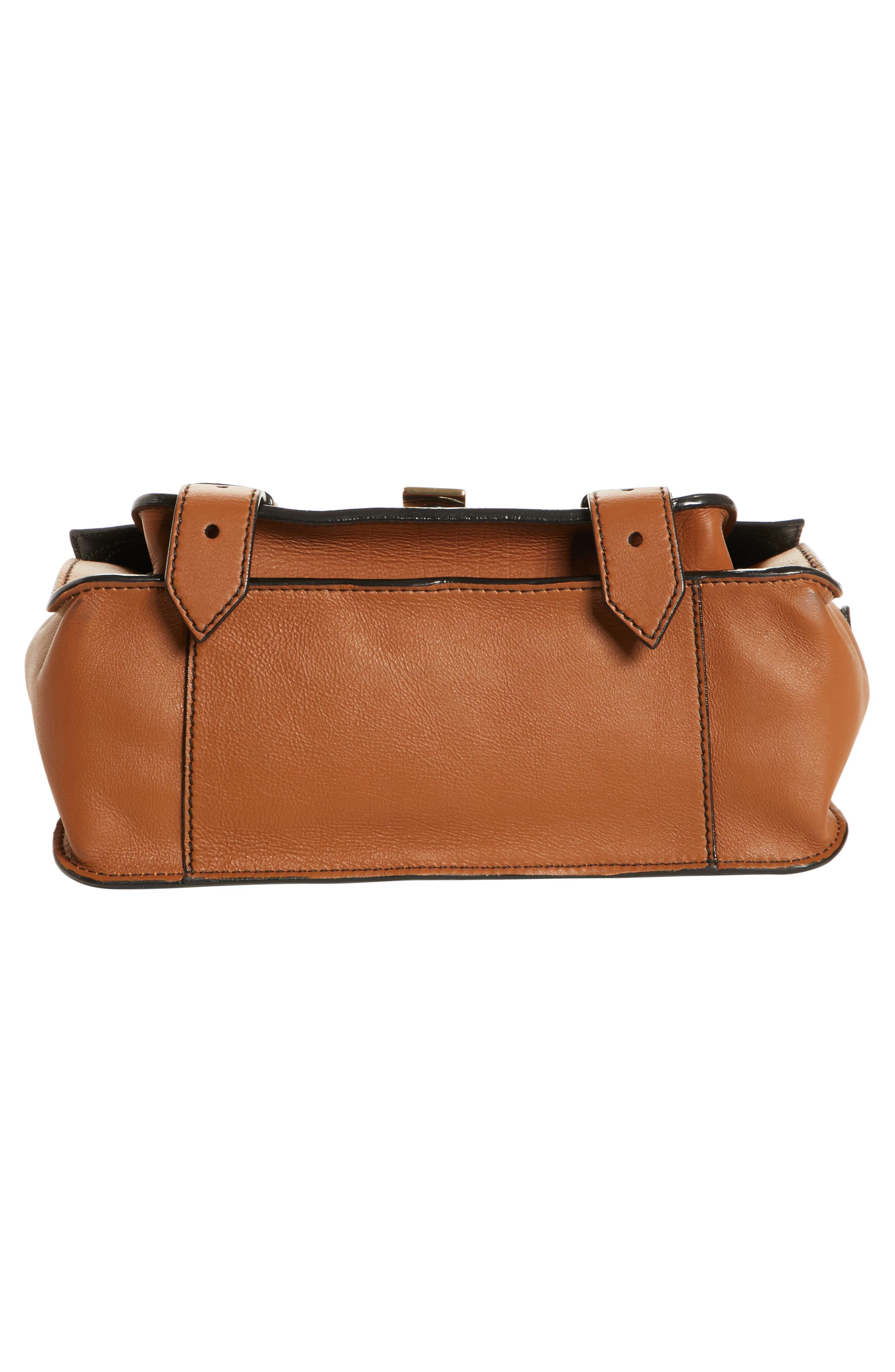 Tiny PS1 Grainy Leather Satchel,                             Alternate thumbnail 5, color,                             250