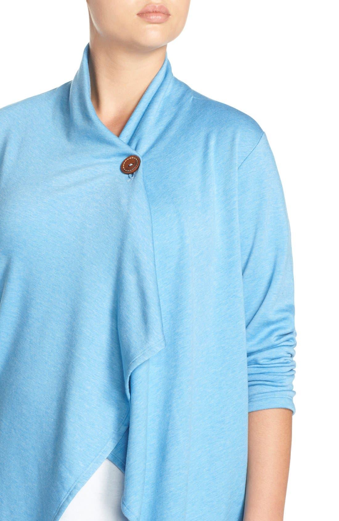 One-Button Fleece Cardigan,                             Alternate thumbnail 158, color,