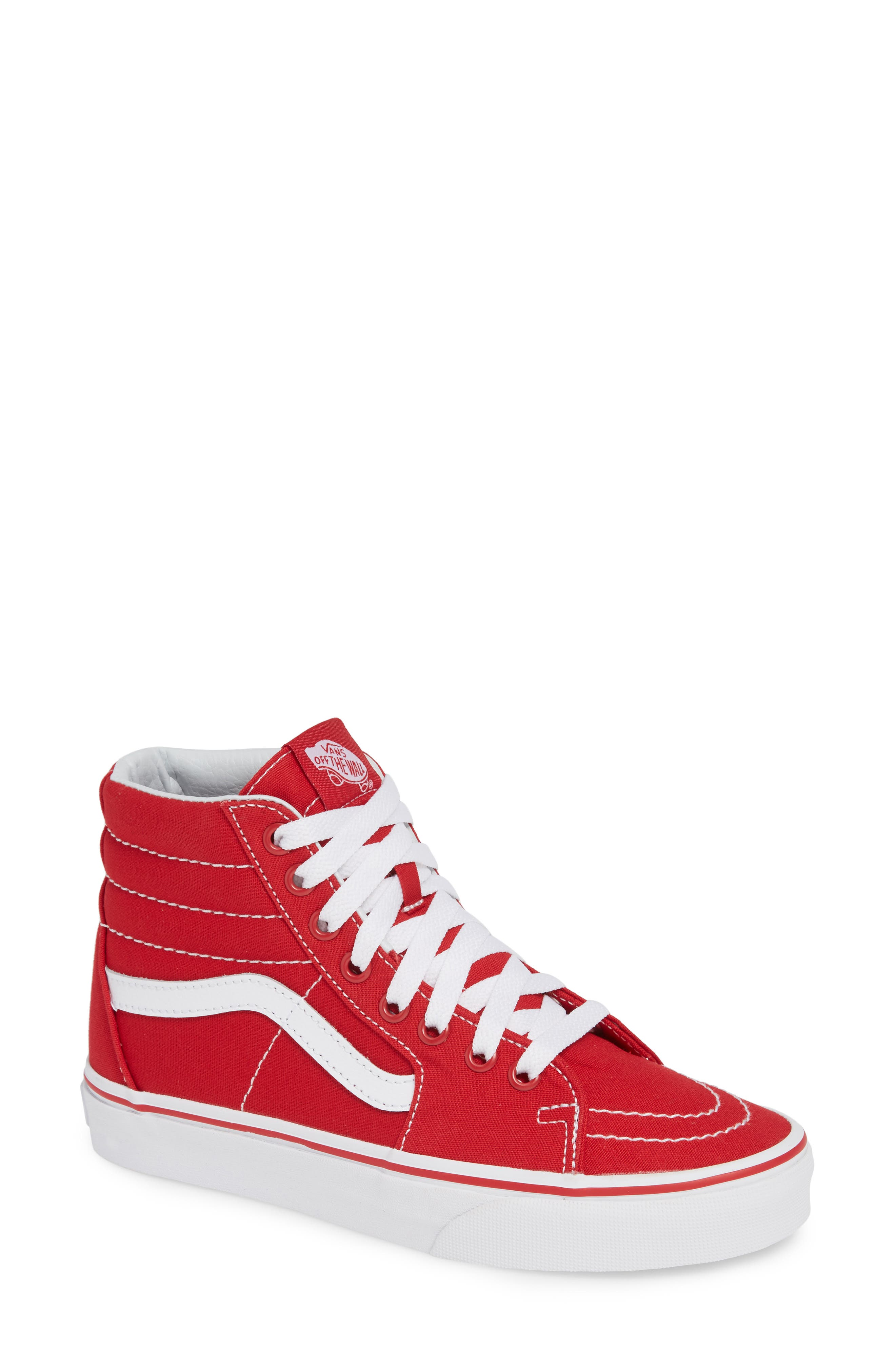 'Sk8-Hi' Sneaker,                             Main thumbnail 1, color,                             CANVAS FORMULA ONE