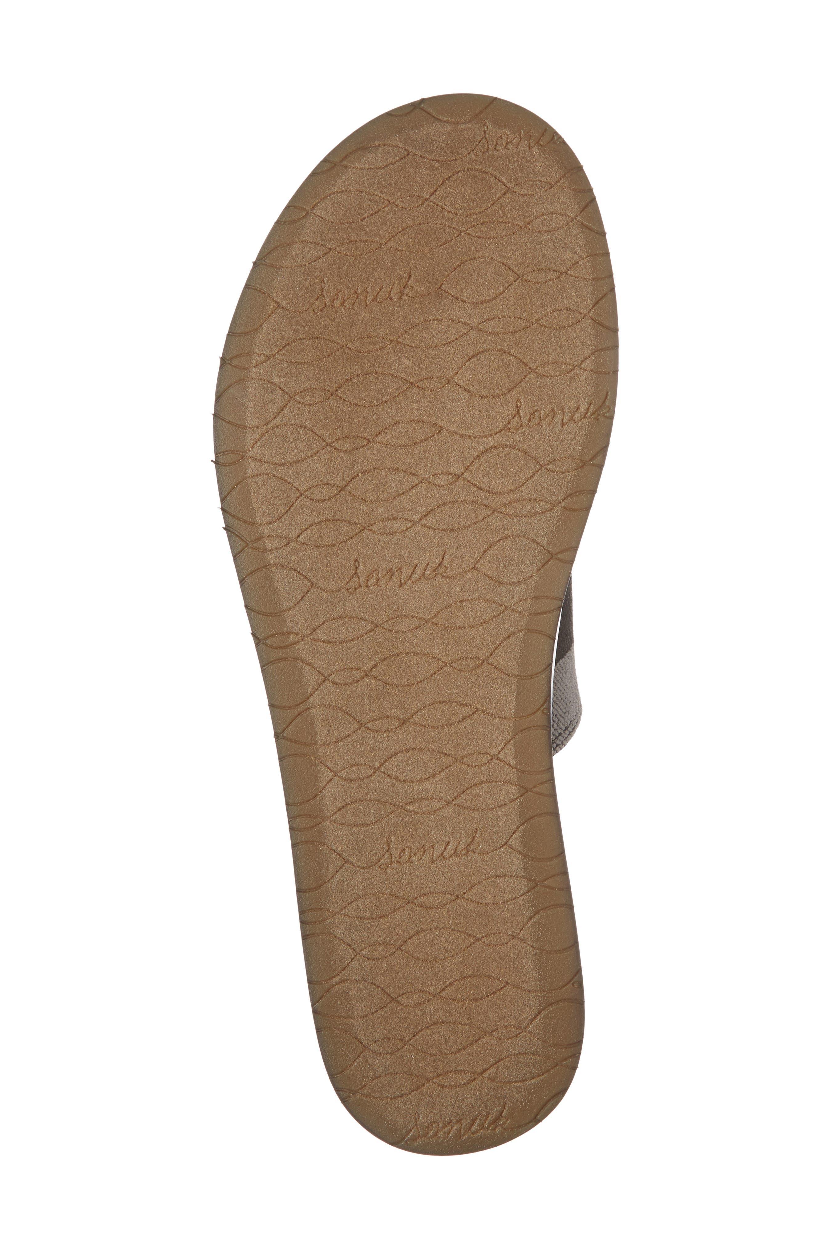 Yoga Gora Gora Slide Sandal,                             Alternate thumbnail 6, color,                             BLACK/ CHARCOAL