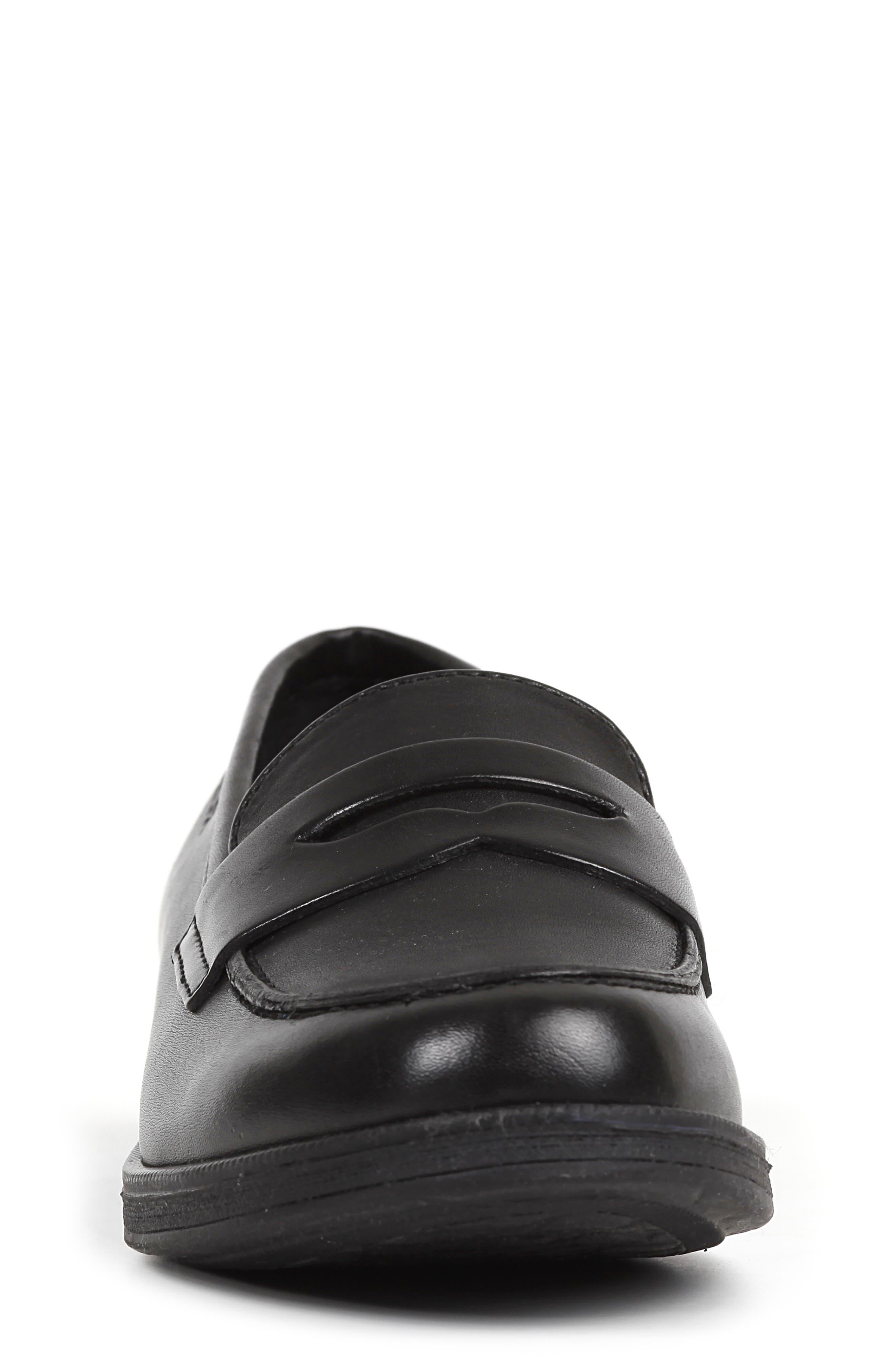 Agata 1 Penny Loafer,                             Alternate thumbnail 4, color,                             BLACK
