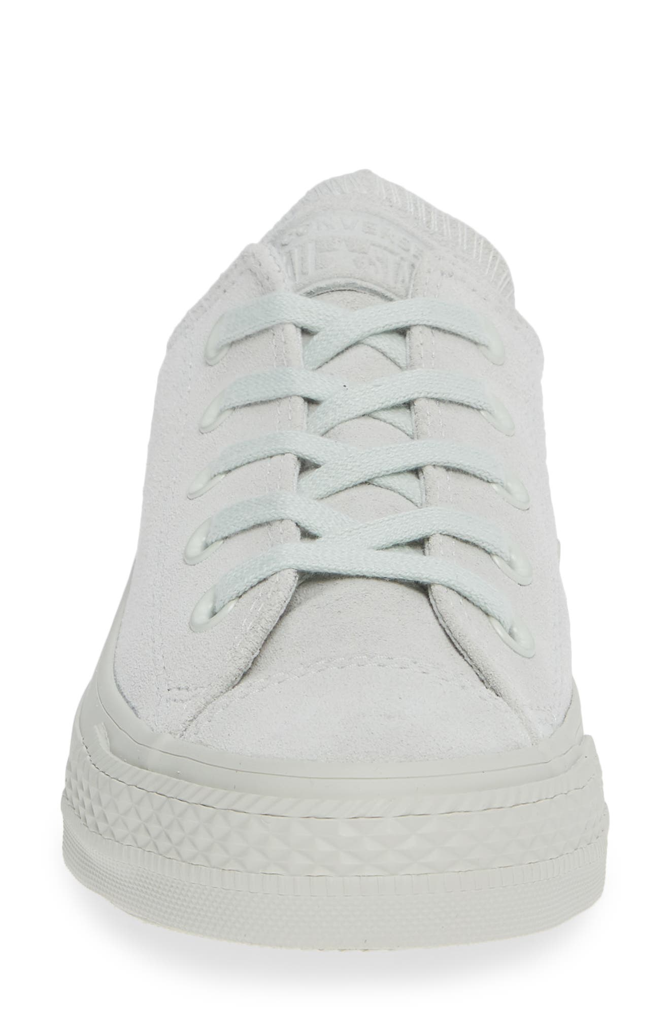 Chuck Taylor<sup>®</sup> All Star<sup>®</sup> Ox Sneaker,                             Alternate thumbnail 4, color,                             LIGHT SILVER SUEDE
