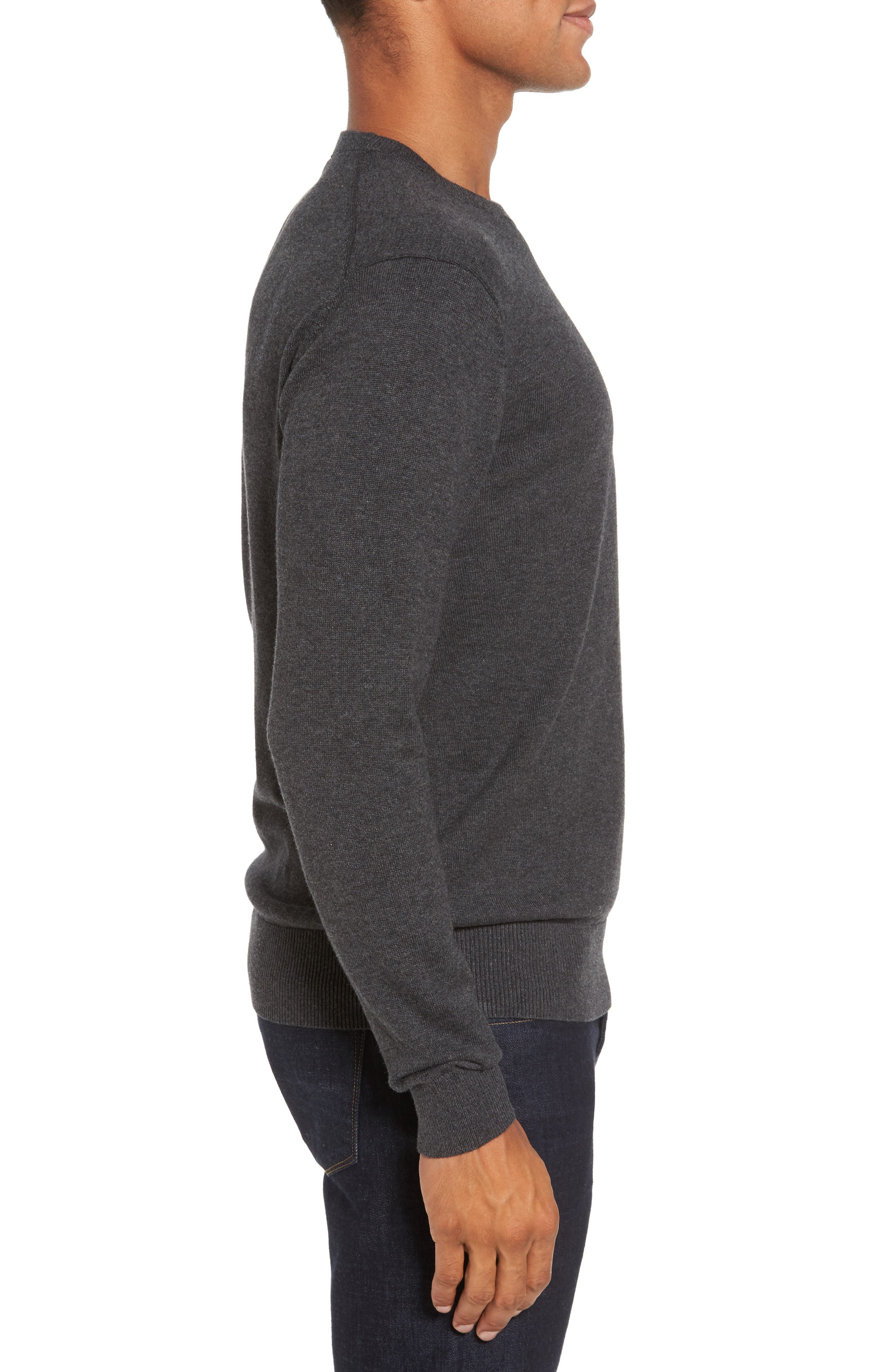 Portrait Crewneck Sweater,                             Alternate thumbnail 3, color,                             015