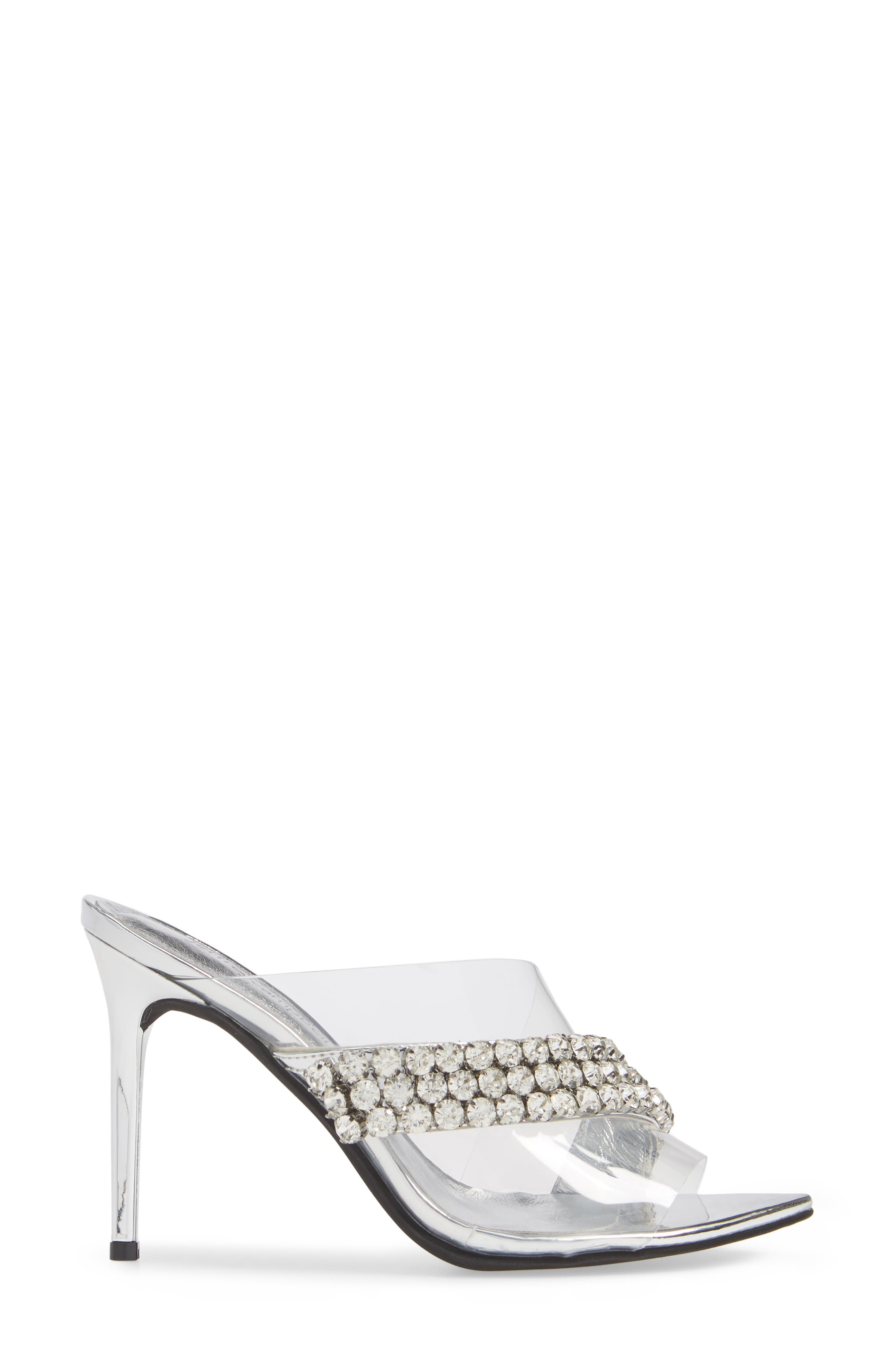 Glam Sandal,                             Alternate thumbnail 3, color,                             SILVER MIRROR LEATHER