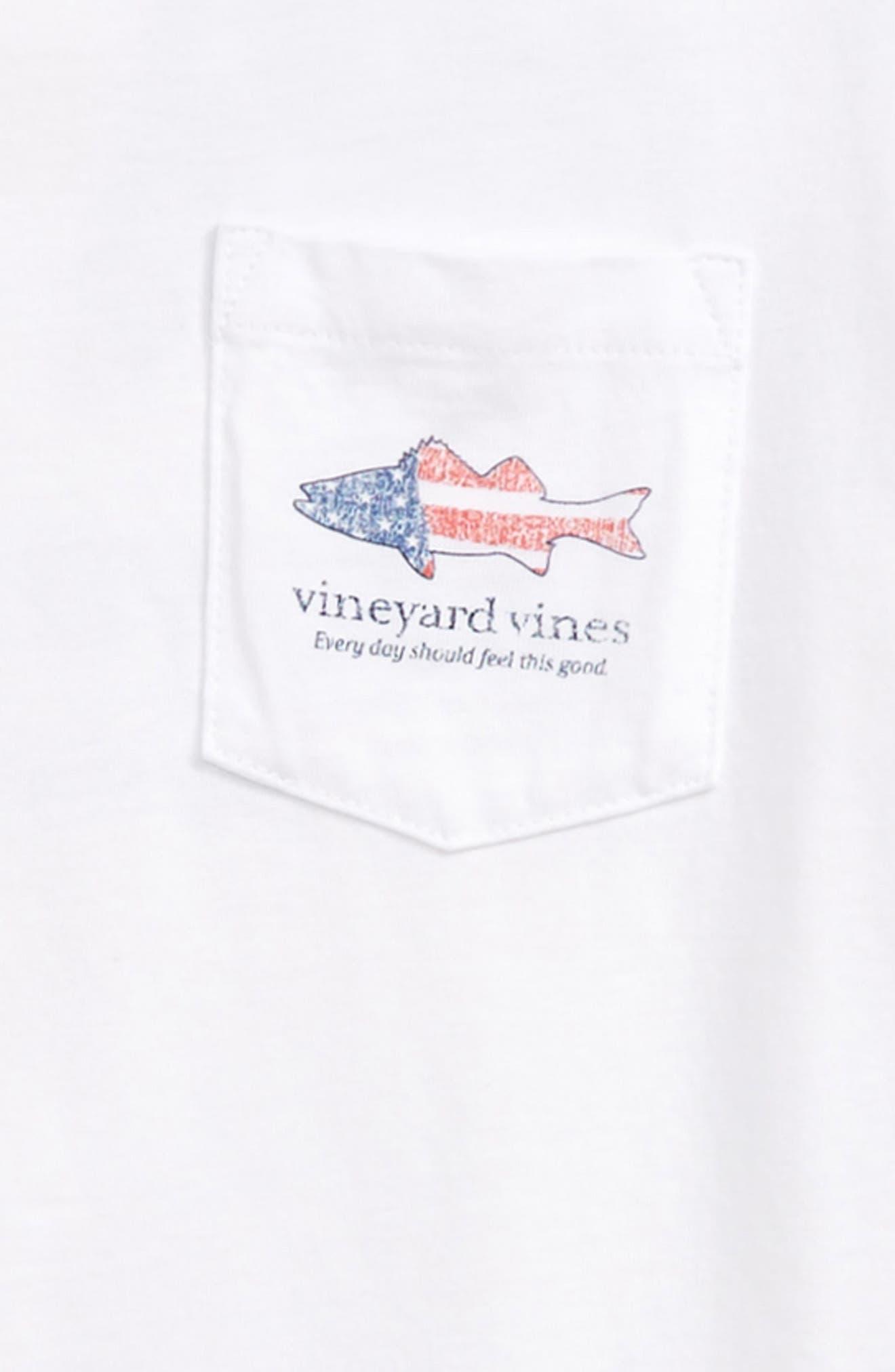 VINEYARD VINES,                             Sea Bass Flag Pocket T-Shirt,                             Alternate thumbnail 3, color,                             100