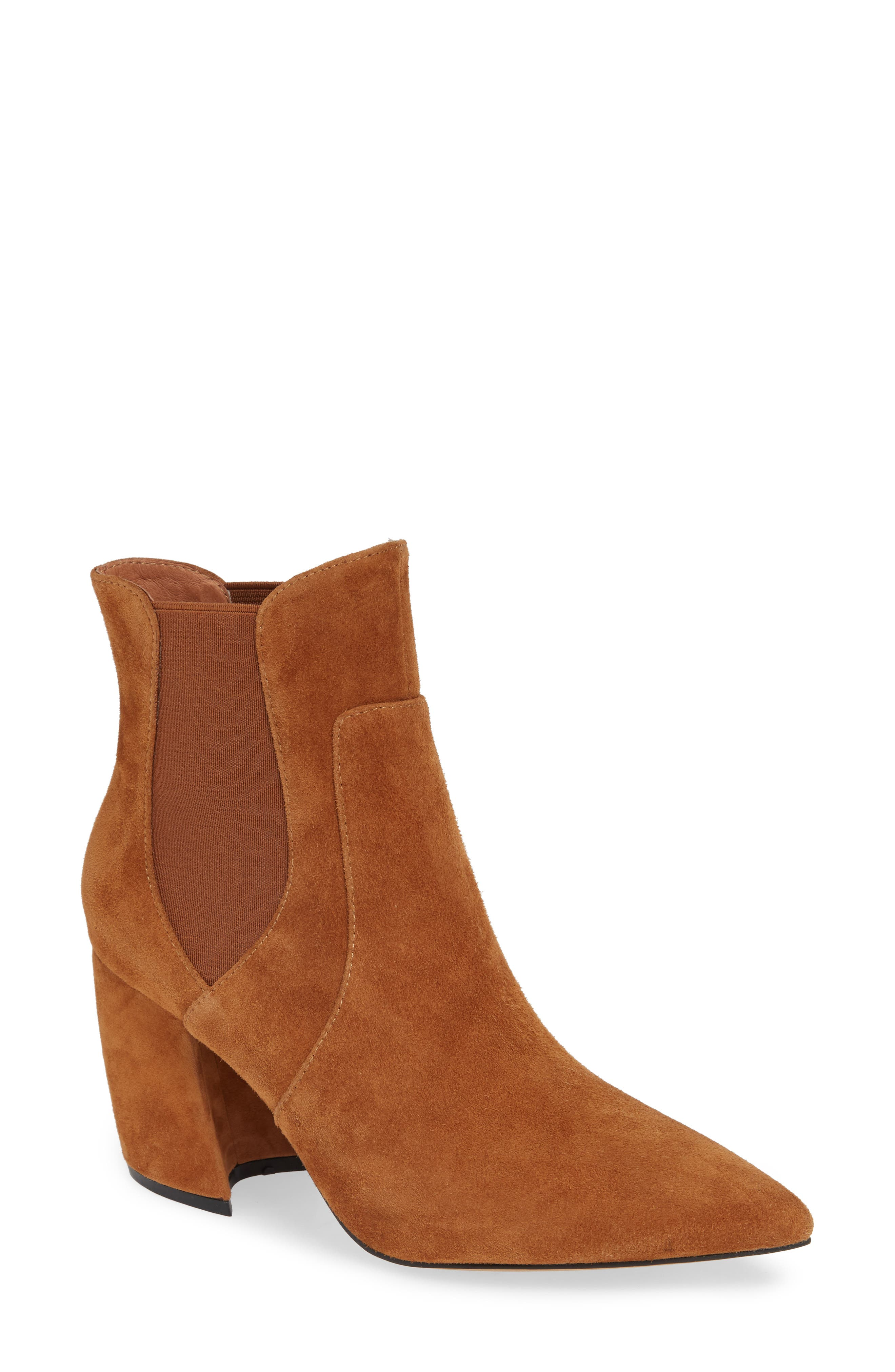 Akilina Bootie in Tan Suede