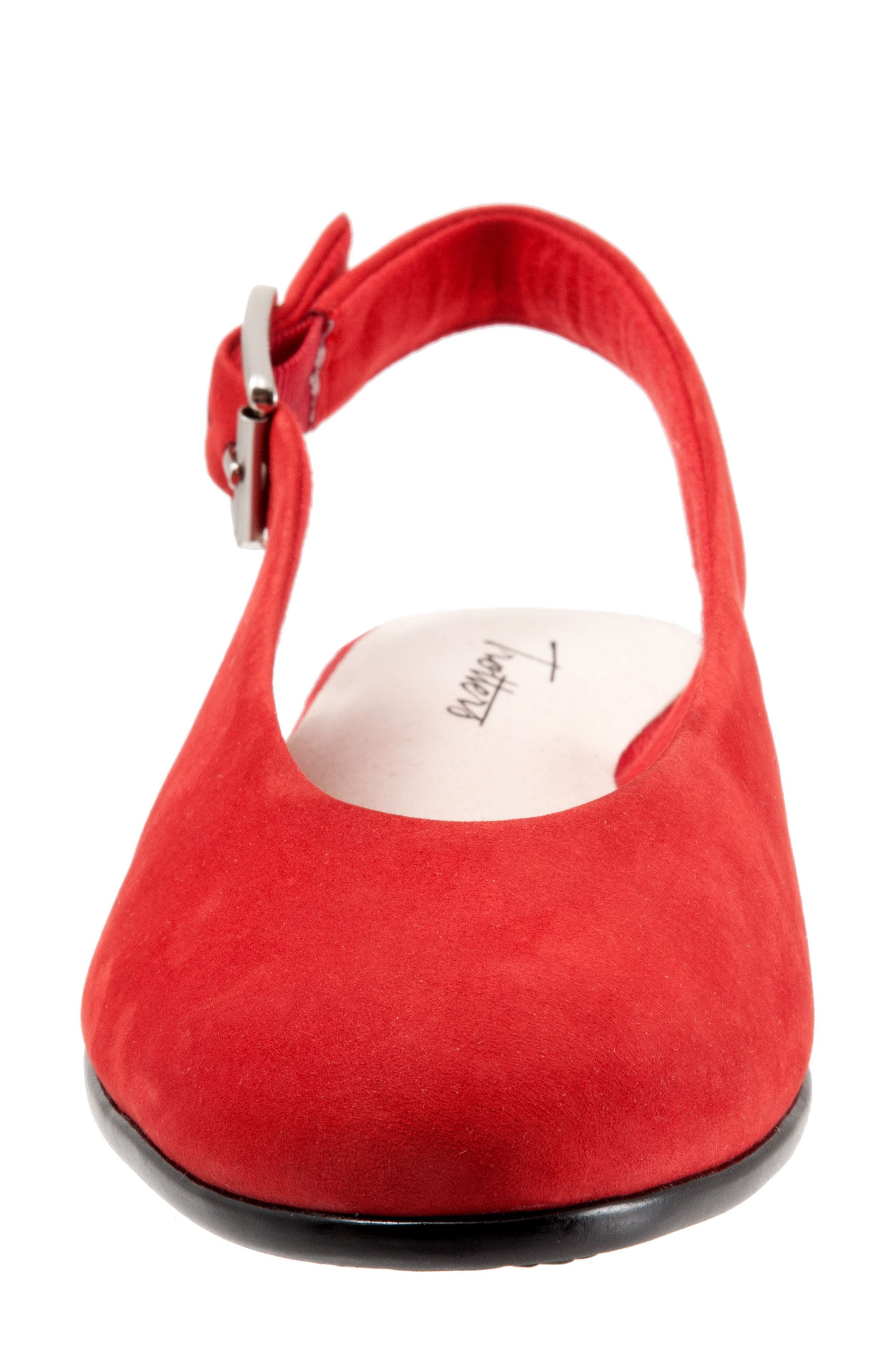 Alice Flat,                             Alternate thumbnail 4, color,                             RED SUEDE
