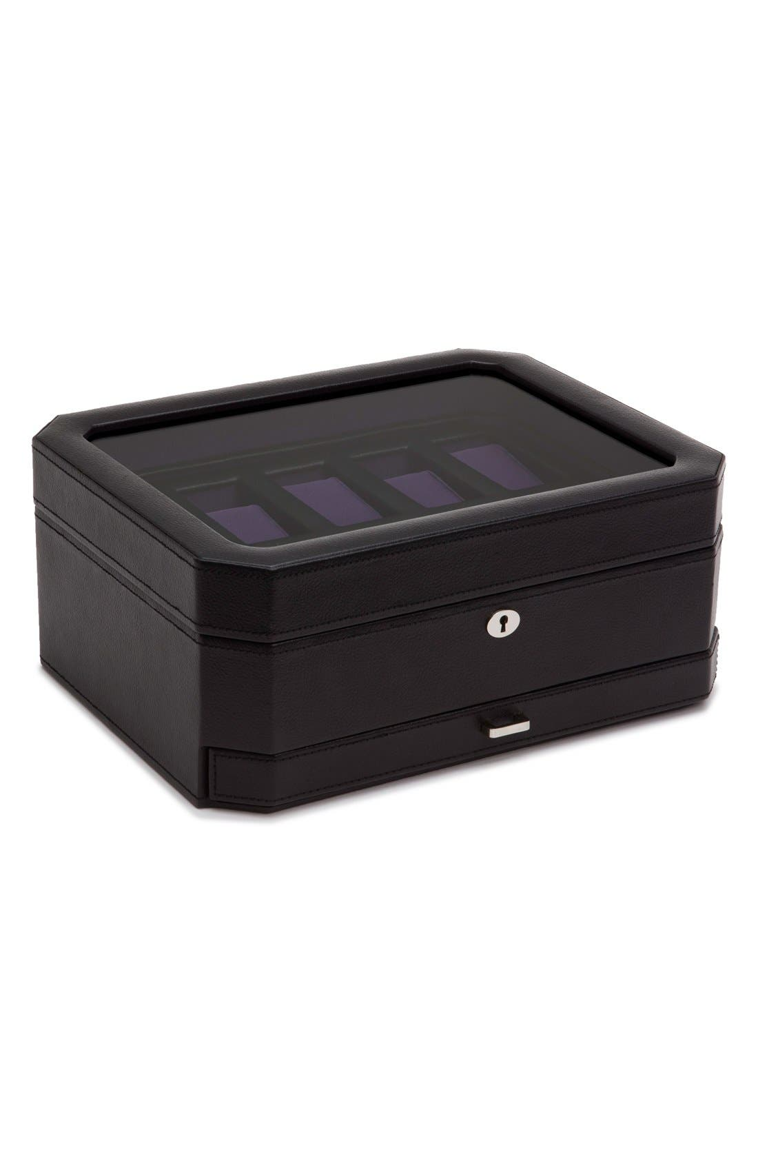Wolf Watches WINDSOR WATCH & ACCESSORY CASE - BLACK