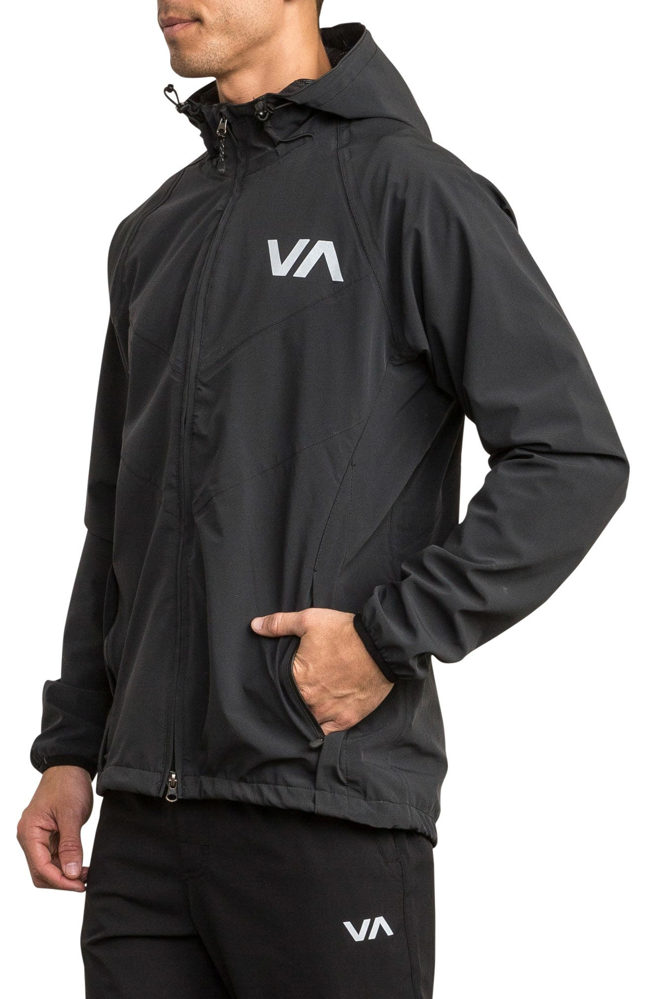 VA Packable Windbreaker,                             Alternate thumbnail 3, color,                             BLACK
