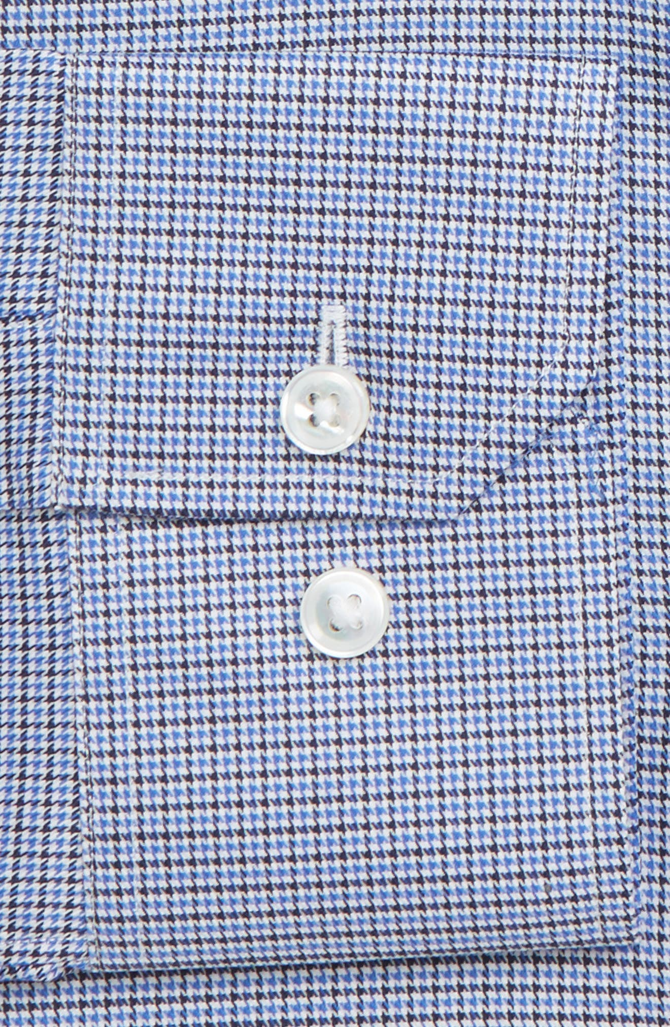 Efford Slim Fit Check Dress Shirt,                             Alternate thumbnail 2, color,                             MARINE