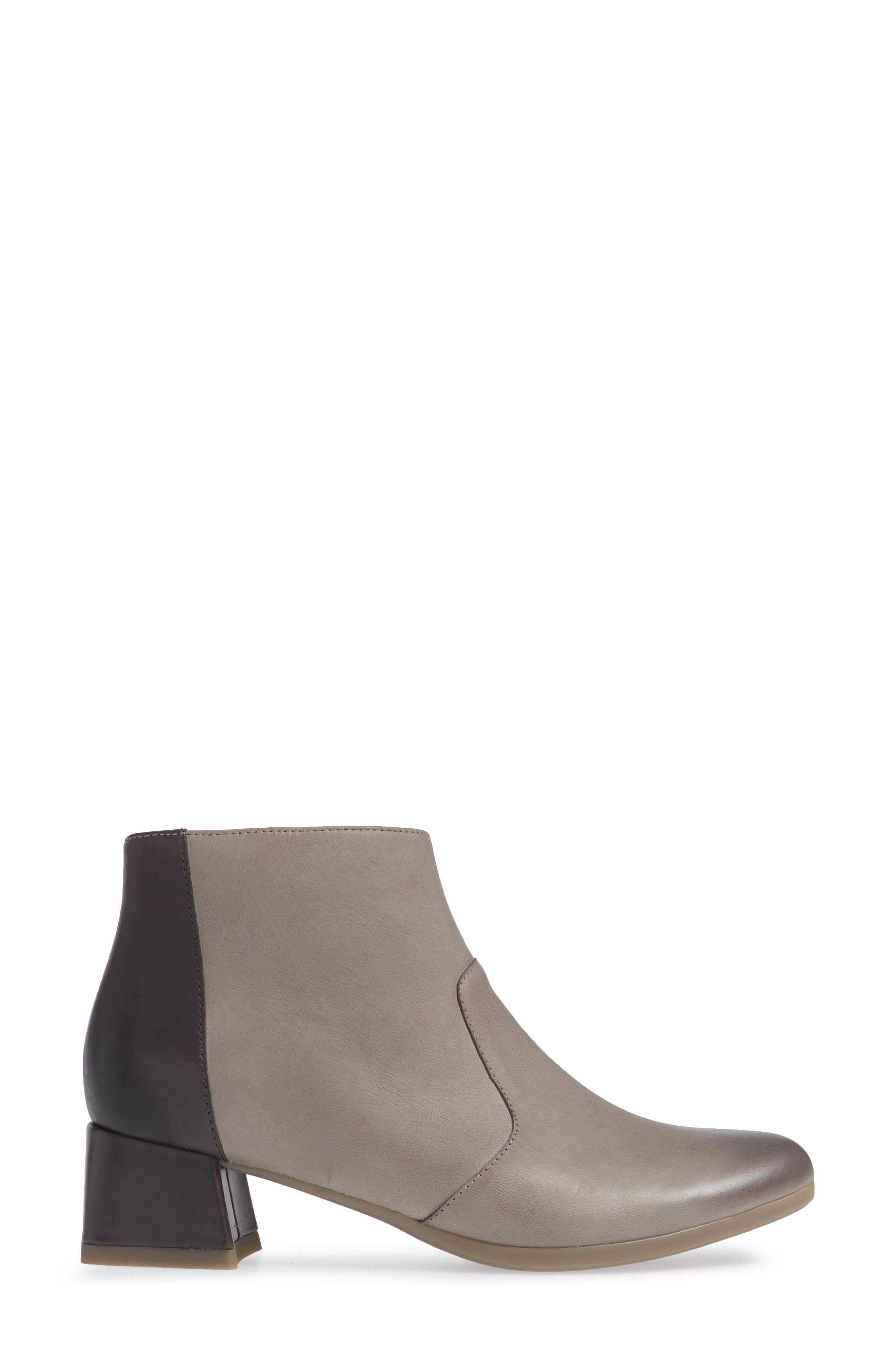 Petra Bootie,                             Alternate thumbnail 3, color,                             STONE BURNISHED NUBUCK LEATHER