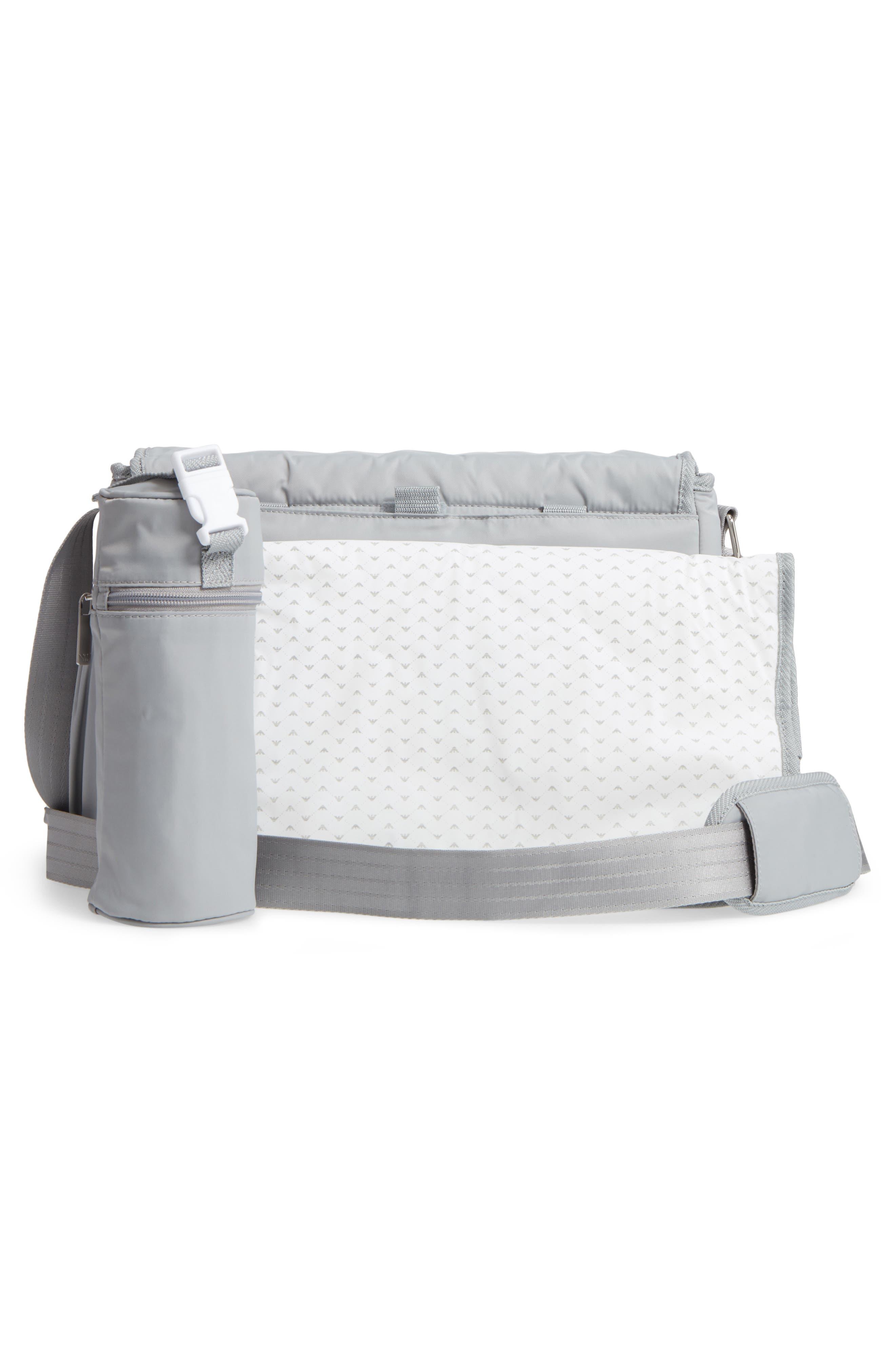Nylon Messenger Diaper Bag,                             Alternate thumbnail 3, color,                             054