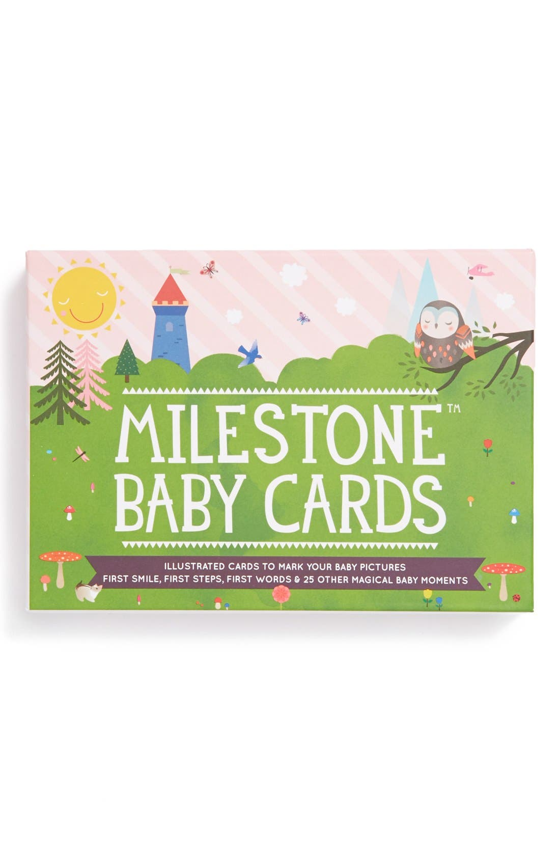 Milestone Set of 30 Original Baby Photo Cards,                             Alternate thumbnail 8, color,                             GREEN
