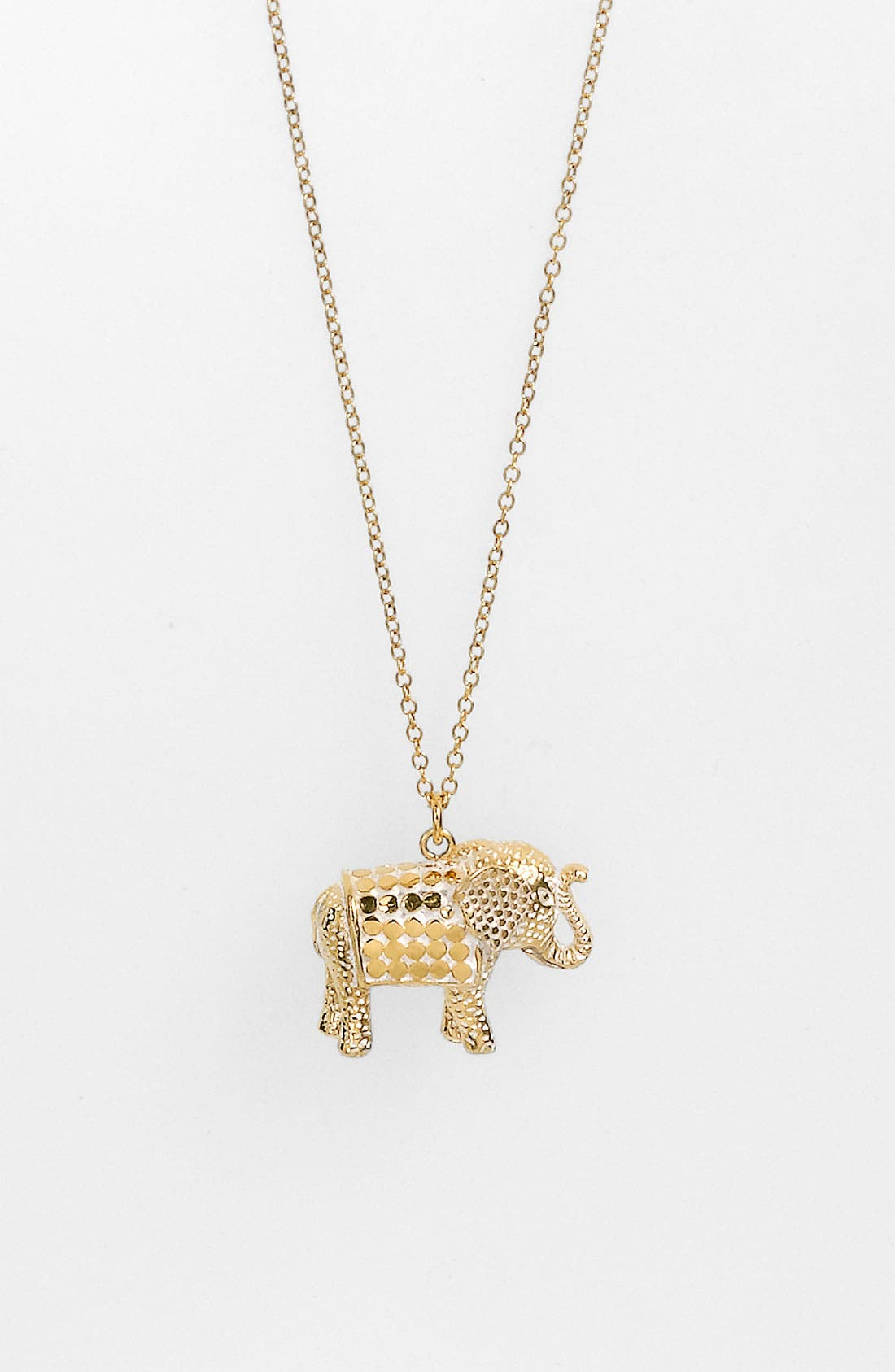 Jewelry That Makes a Difference Elephant Pendant Necklace,                             Alternate thumbnail 2, color,                             GOLD/ SILVER