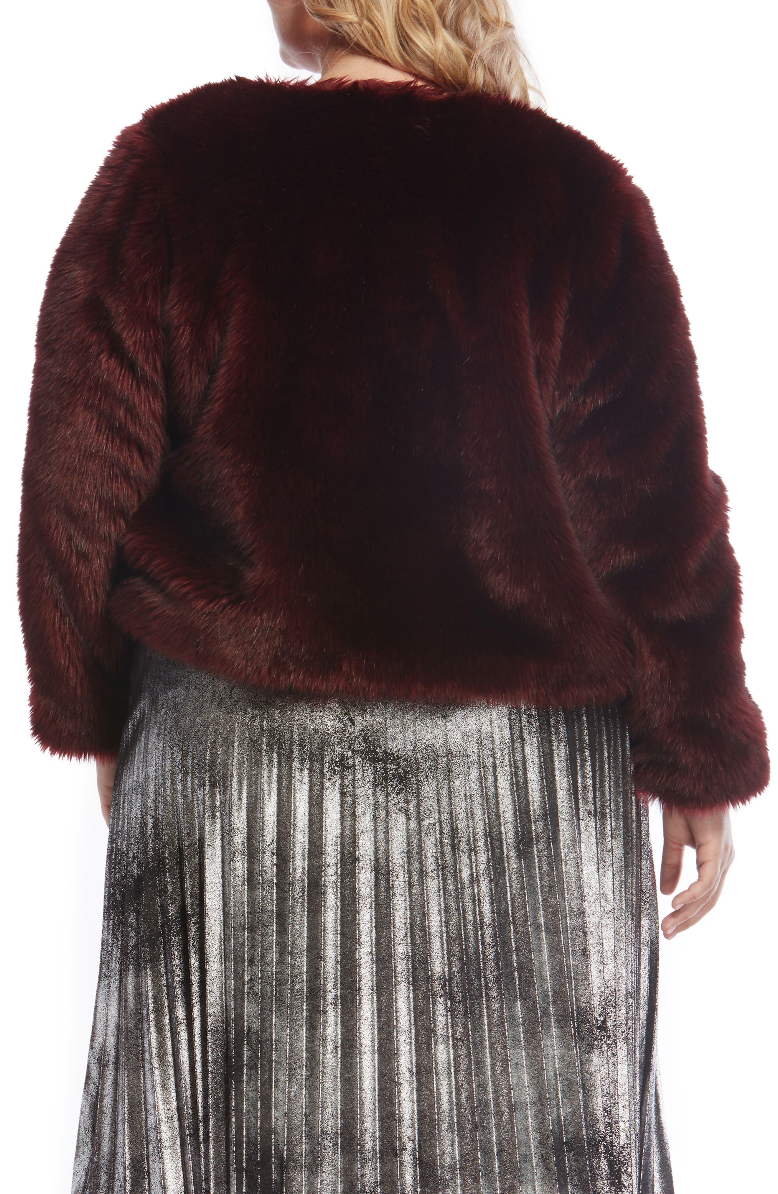 Faux Fur Jacket,                             Alternate thumbnail 5, color,
