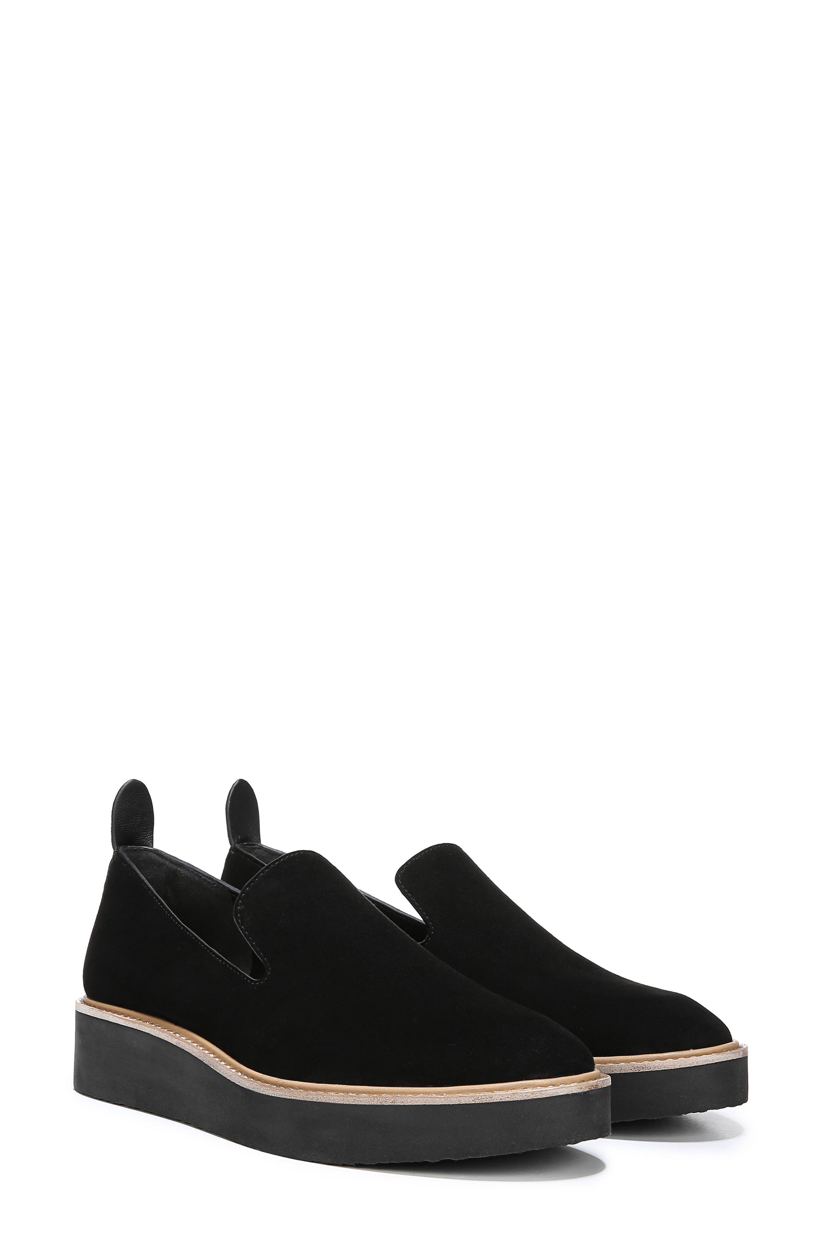 Sanders Slip-On Sneaker,                             Alternate thumbnail 9, color,                             BLACK/ BLACK LEATHER