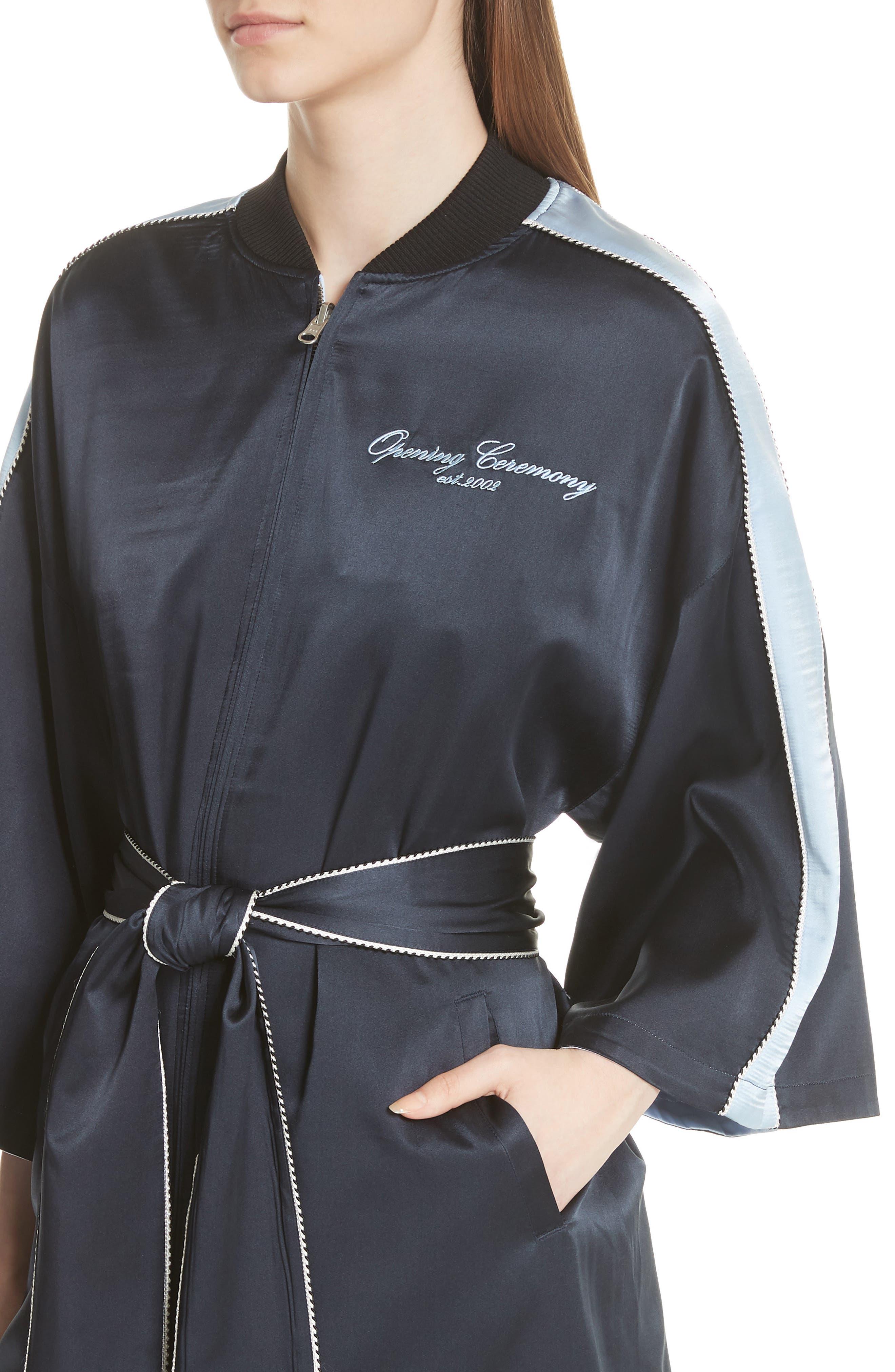 OPENING CEREMONY,                             Reversible Silk Kimono Robe,                             Alternate thumbnail 5, color,                             435