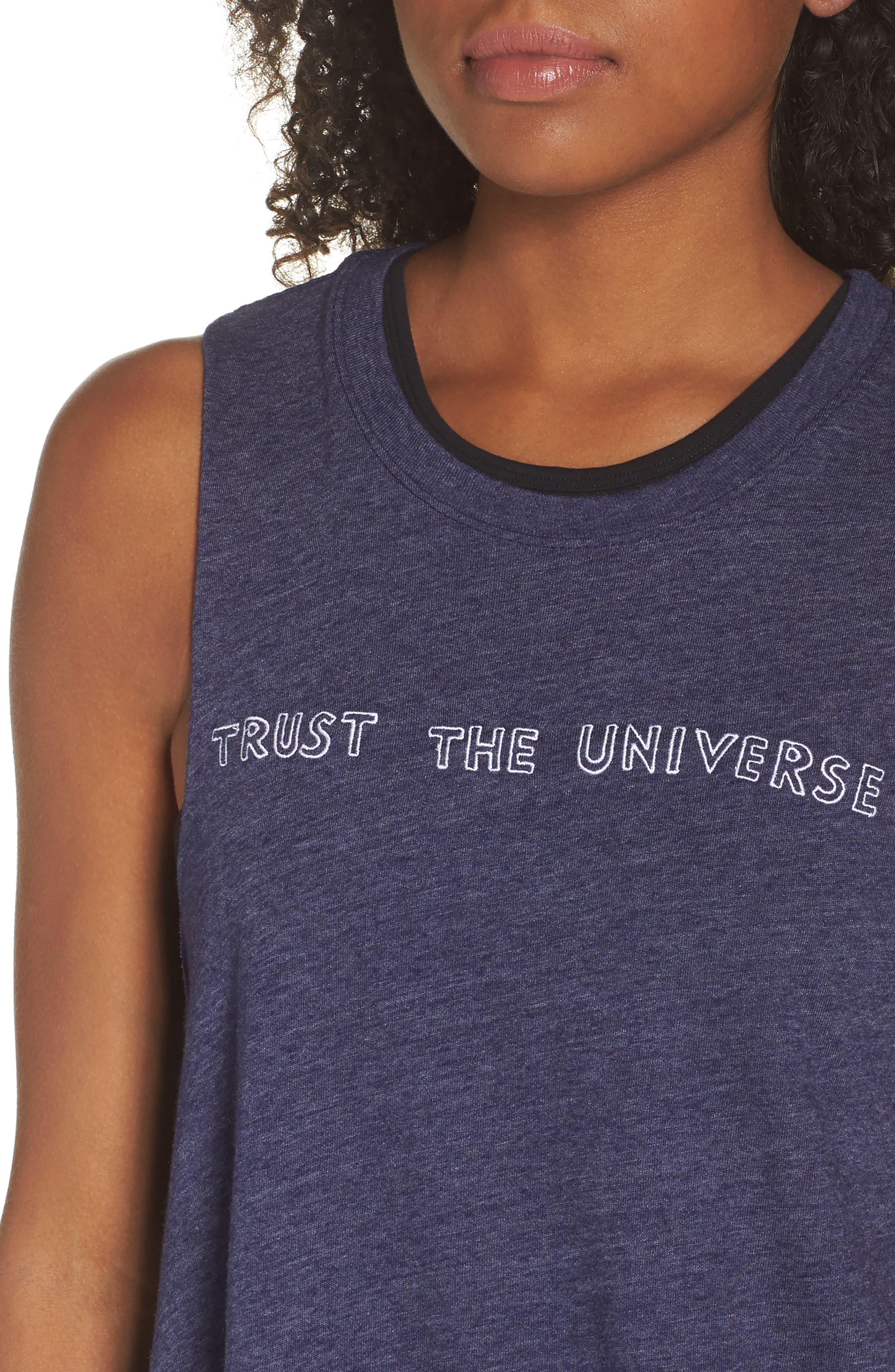 Trust the Universe Crop Tank,                             Alternate thumbnail 4, color,                             410