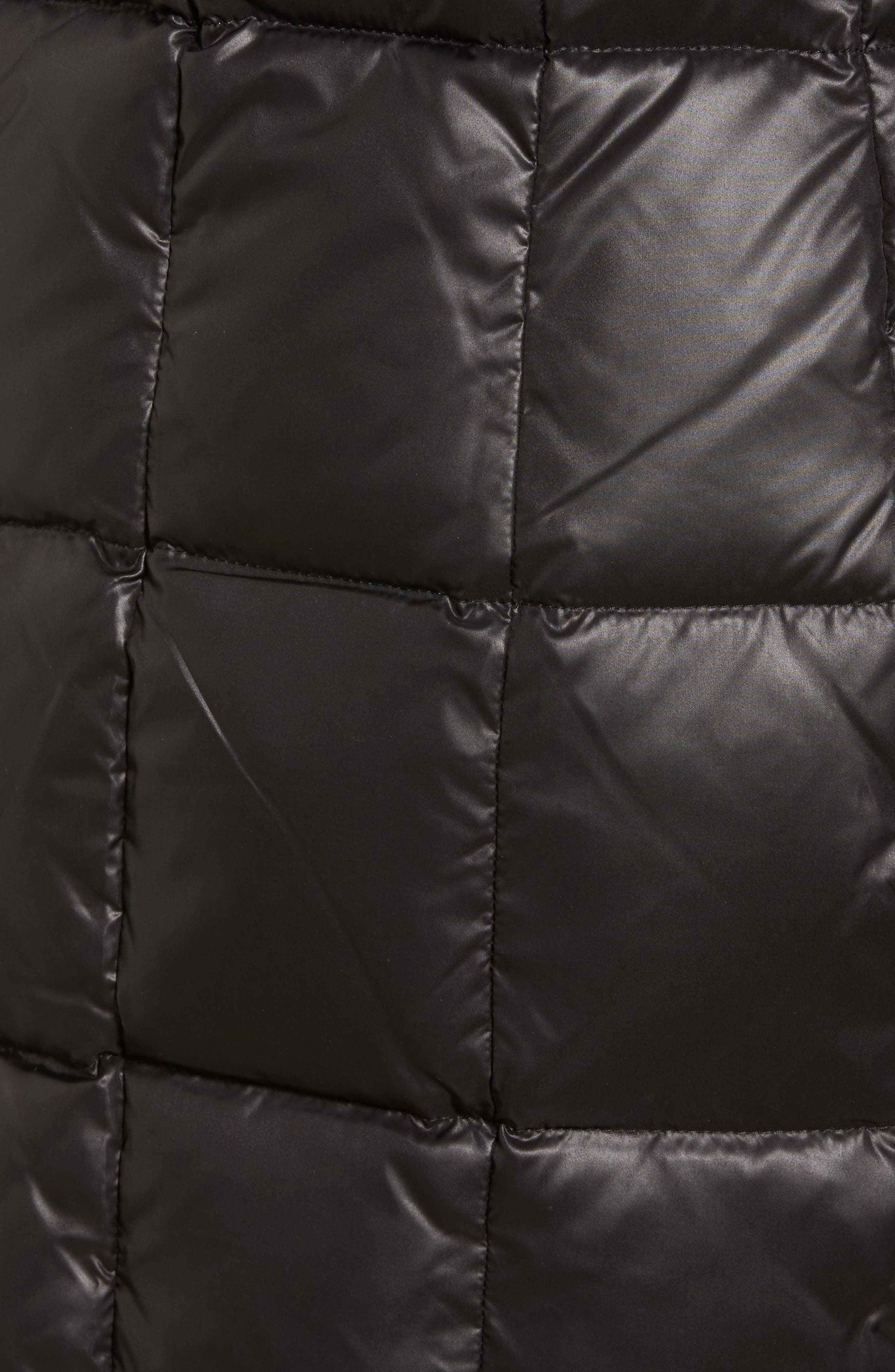 Quilted Coat with Genuine Coyote Fur,                             Alternate thumbnail 6, color,                             001