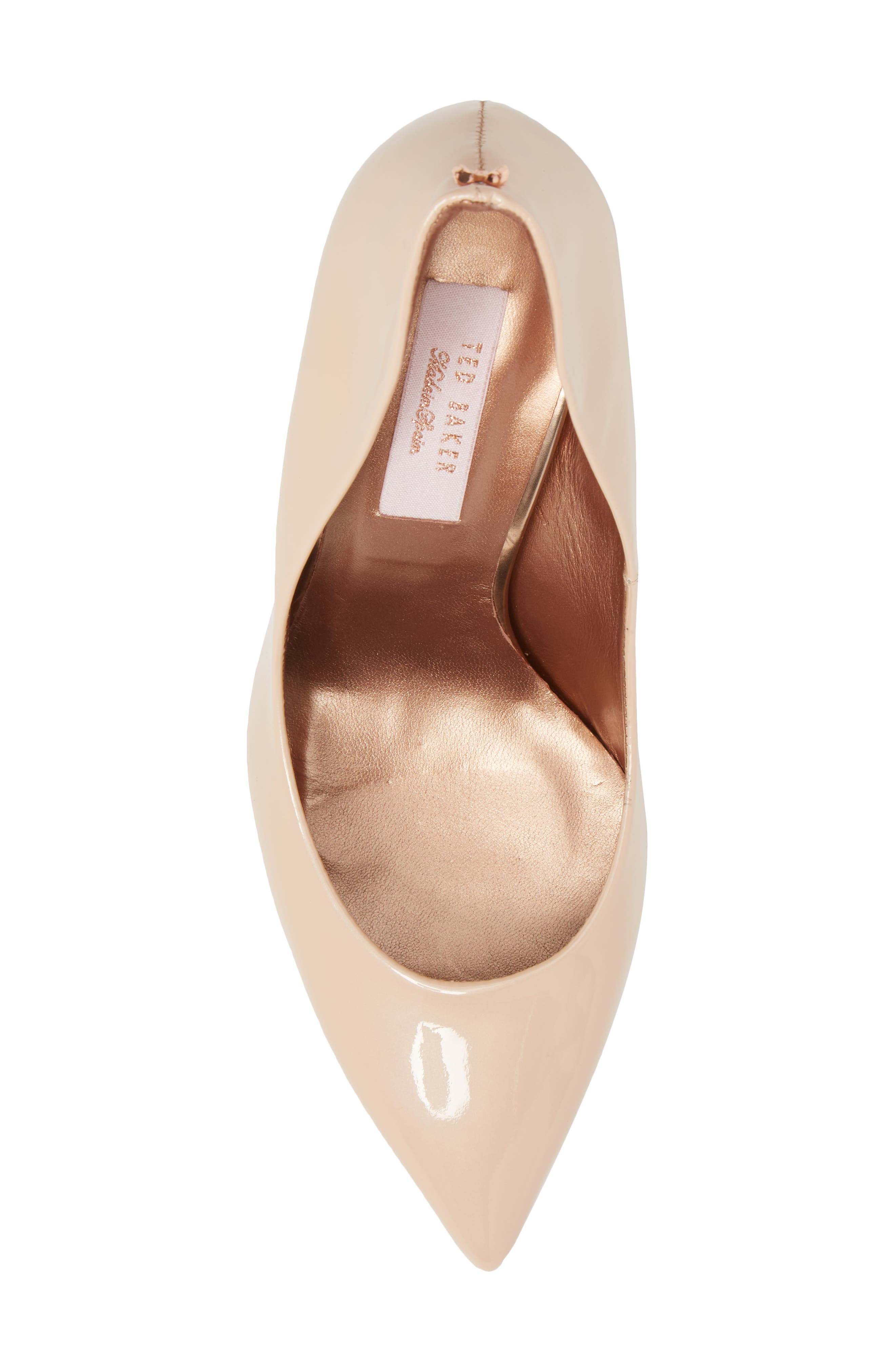 Savio Pump,                             Alternate thumbnail 5, color,                             NUDE PATENT LEATHER