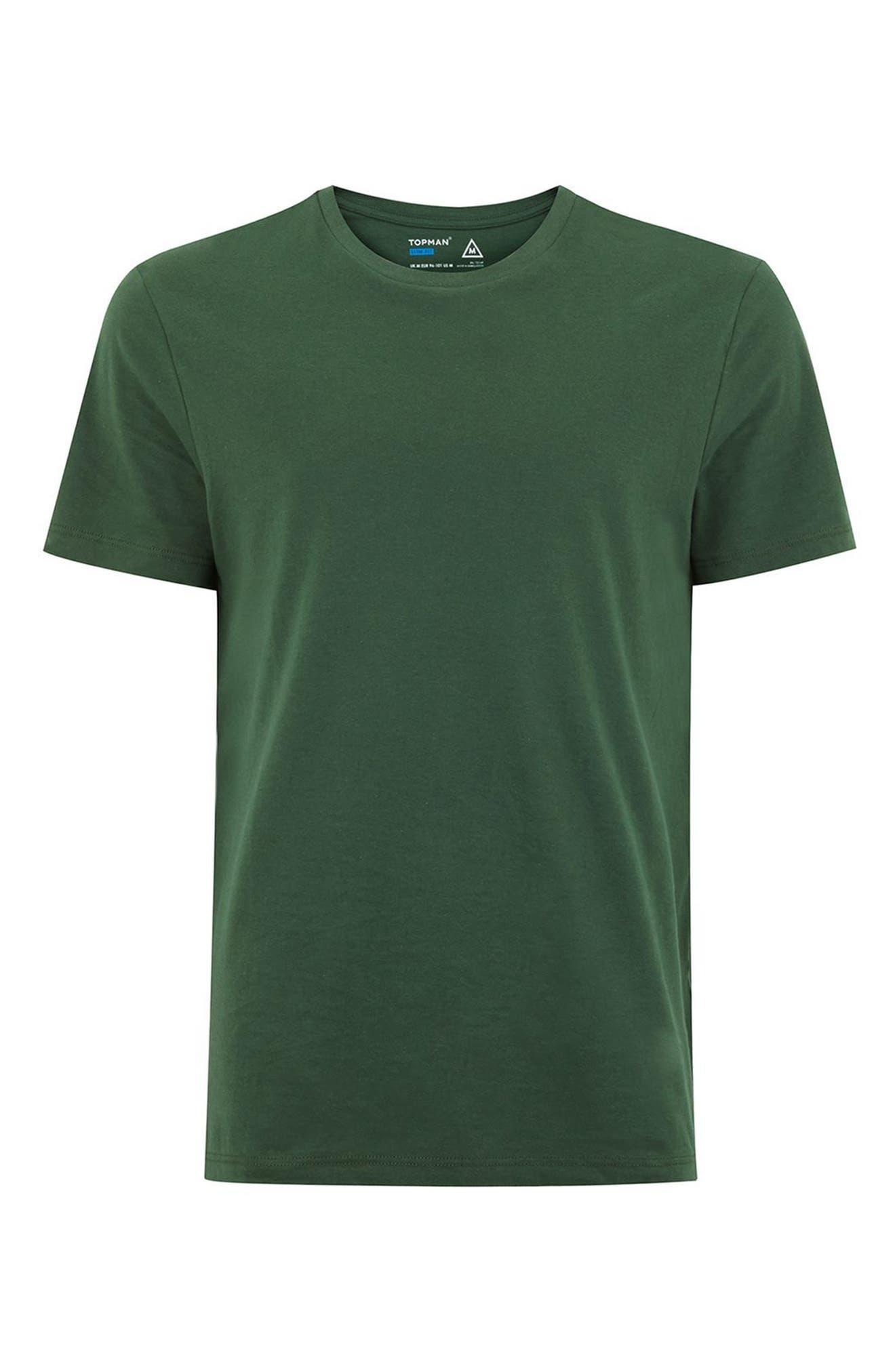 Slim Fit Crewneck T-Shirt,                             Alternate thumbnail 295, color,