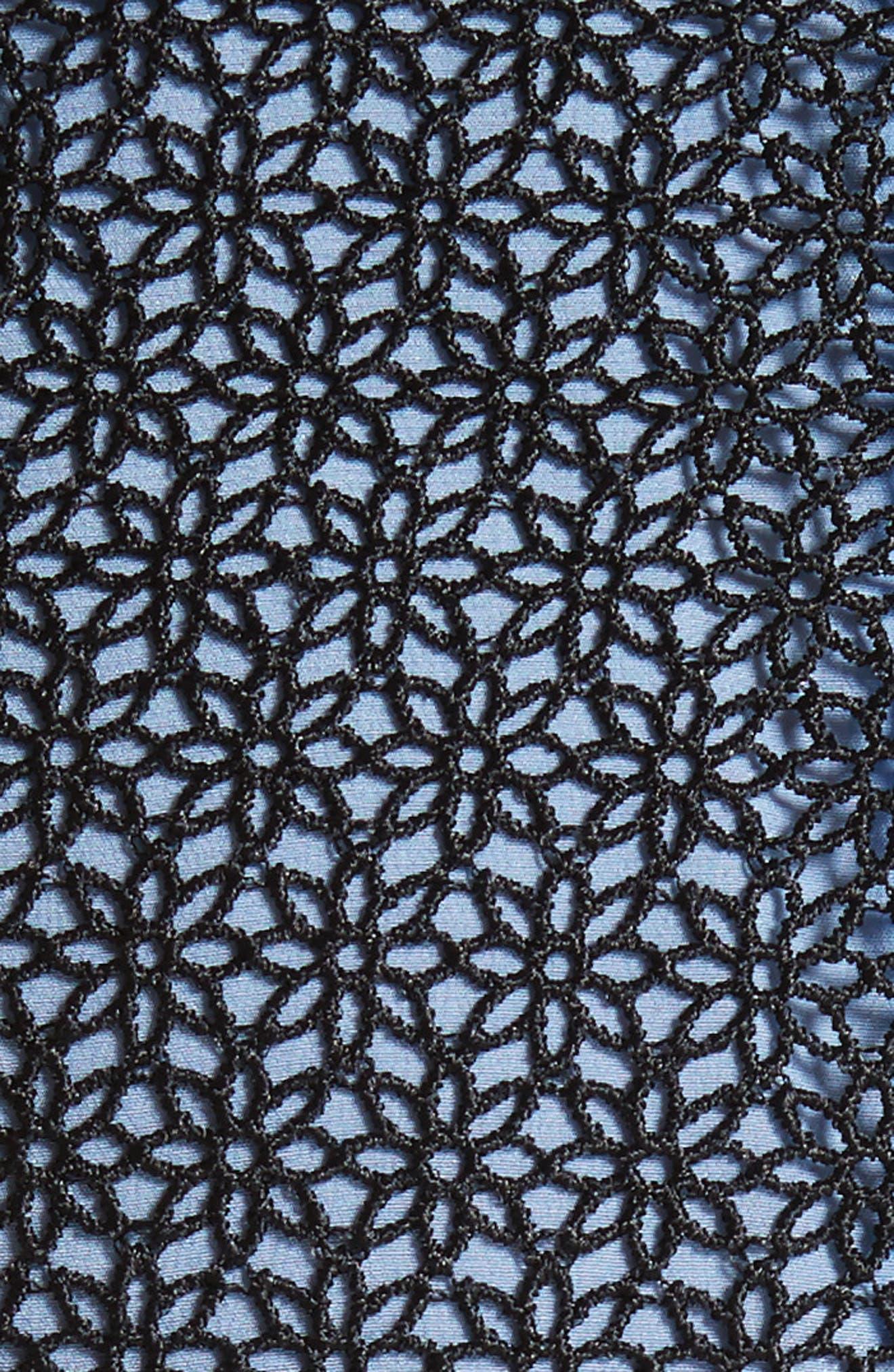 Lace Midi Dress,                             Alternate thumbnail 5, color,
